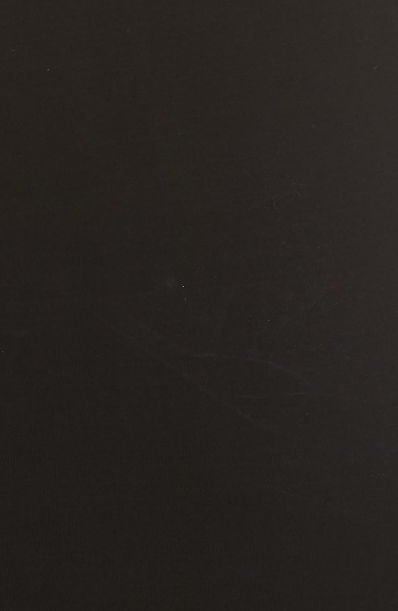 HELMUT LANG, Pleated Jersey Dress, Alternate thumbnail 6, color, BLACK