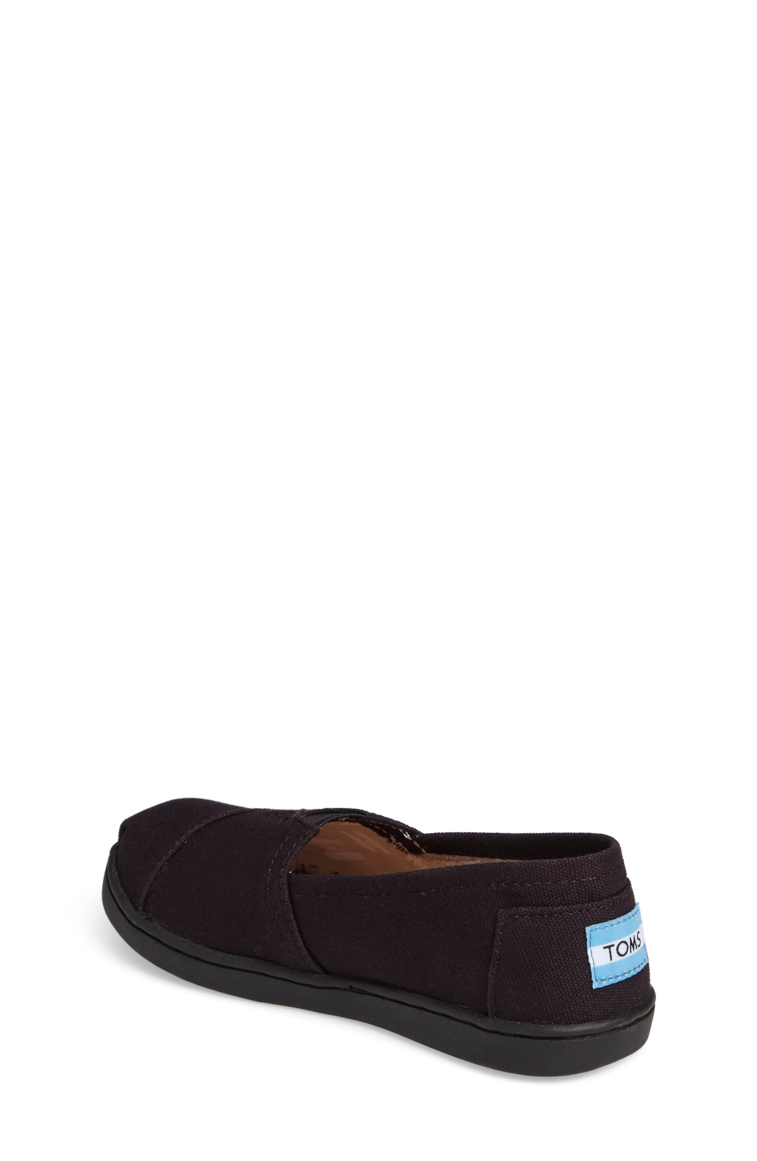 TOMS, 2.0 Classic Alpargata Slip-On, Alternate thumbnail 2, color, BLACK CANVAS