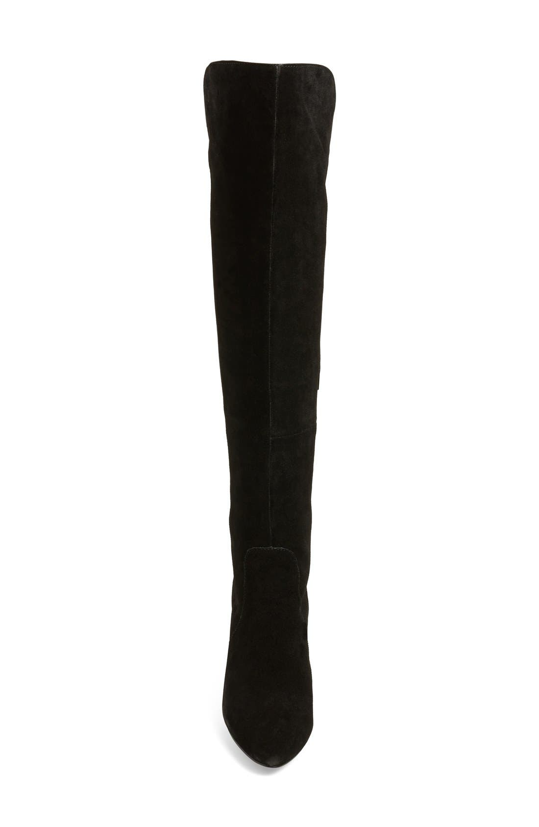 CHARLES BY CHARLES DAVID, 'Edie' Over the Knee Boot, Alternate thumbnail 3, color, 002