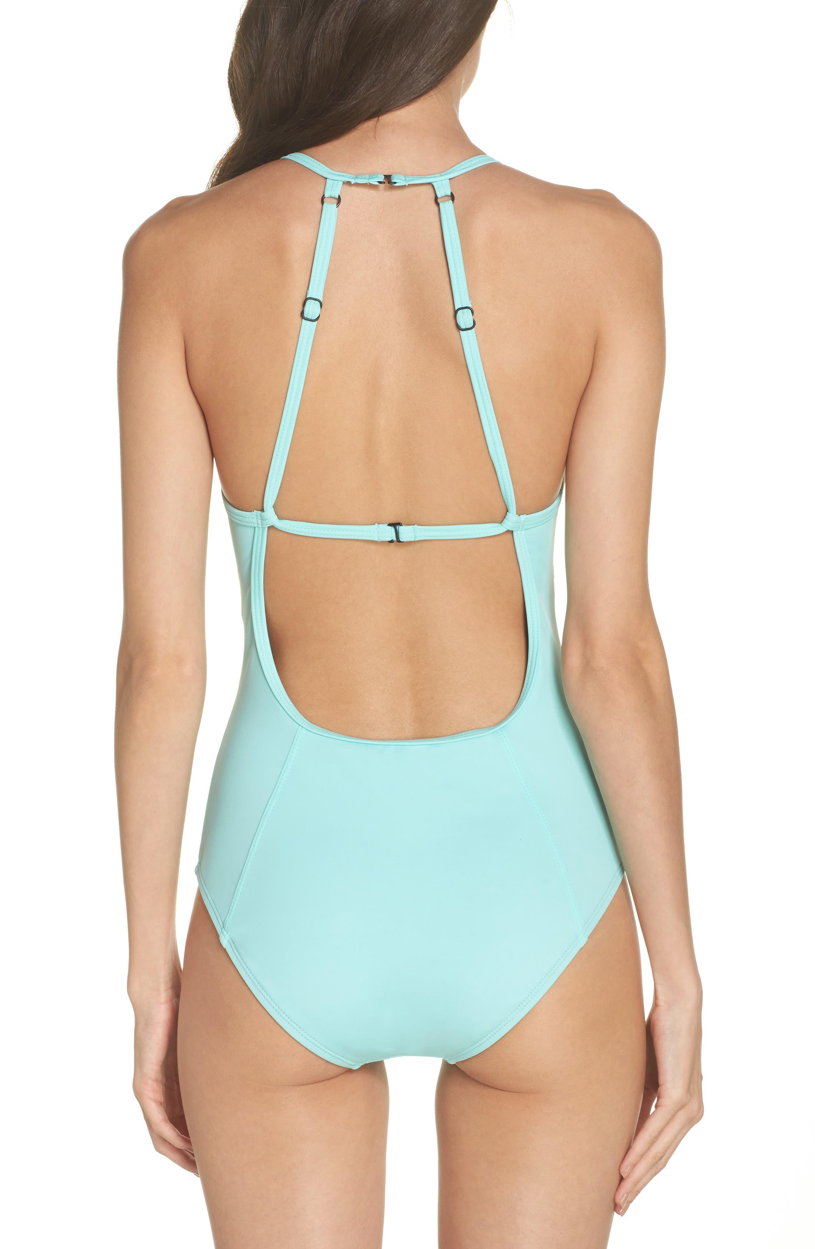 ZELLA, One-Piece Swimsuit, Alternate thumbnail 2, color, 440