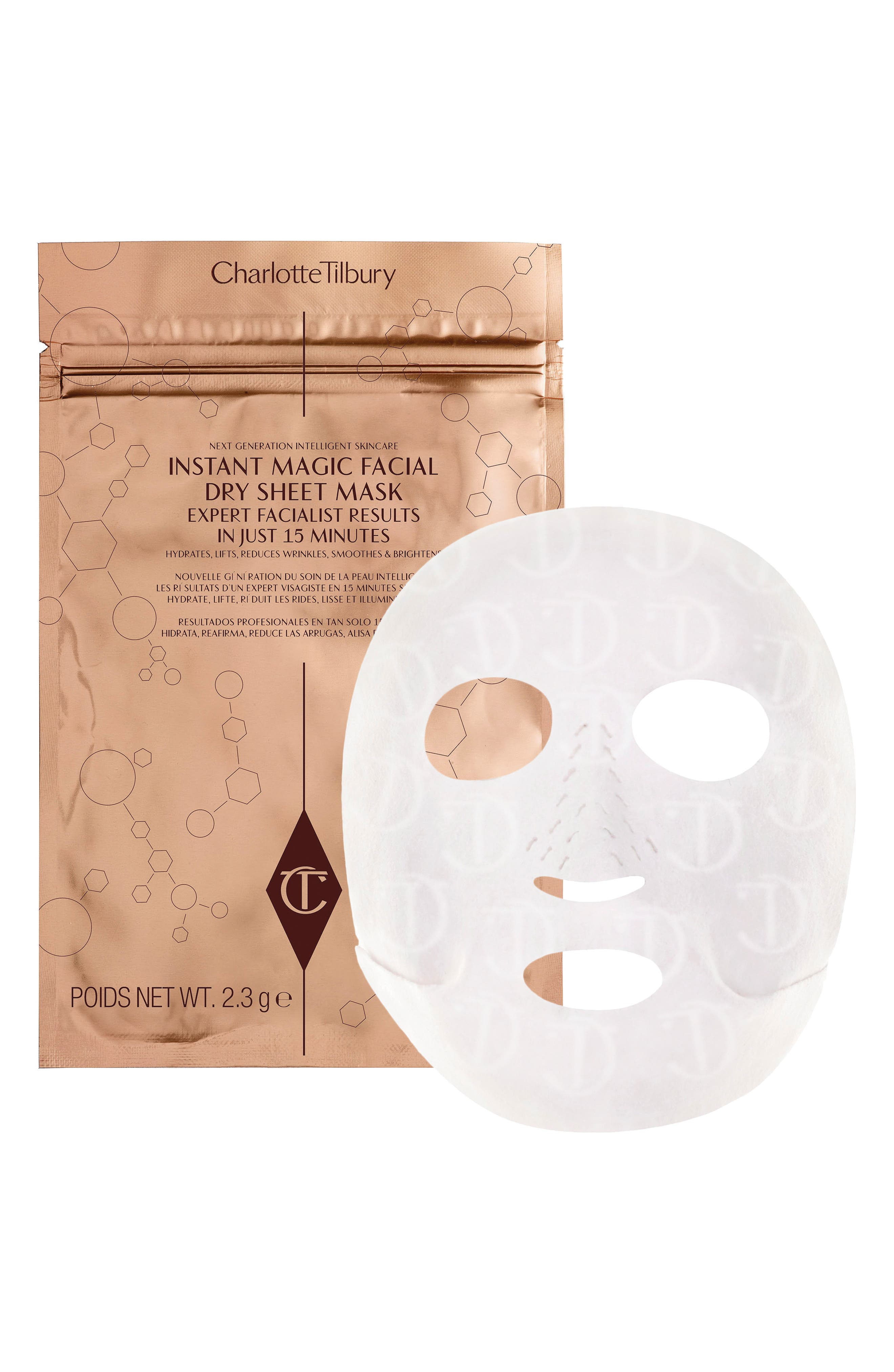 CHARLOTTE TILBURY, Instant Magic Facial Dry Sheet Mask, Alternate thumbnail 3, color, NO COLOR