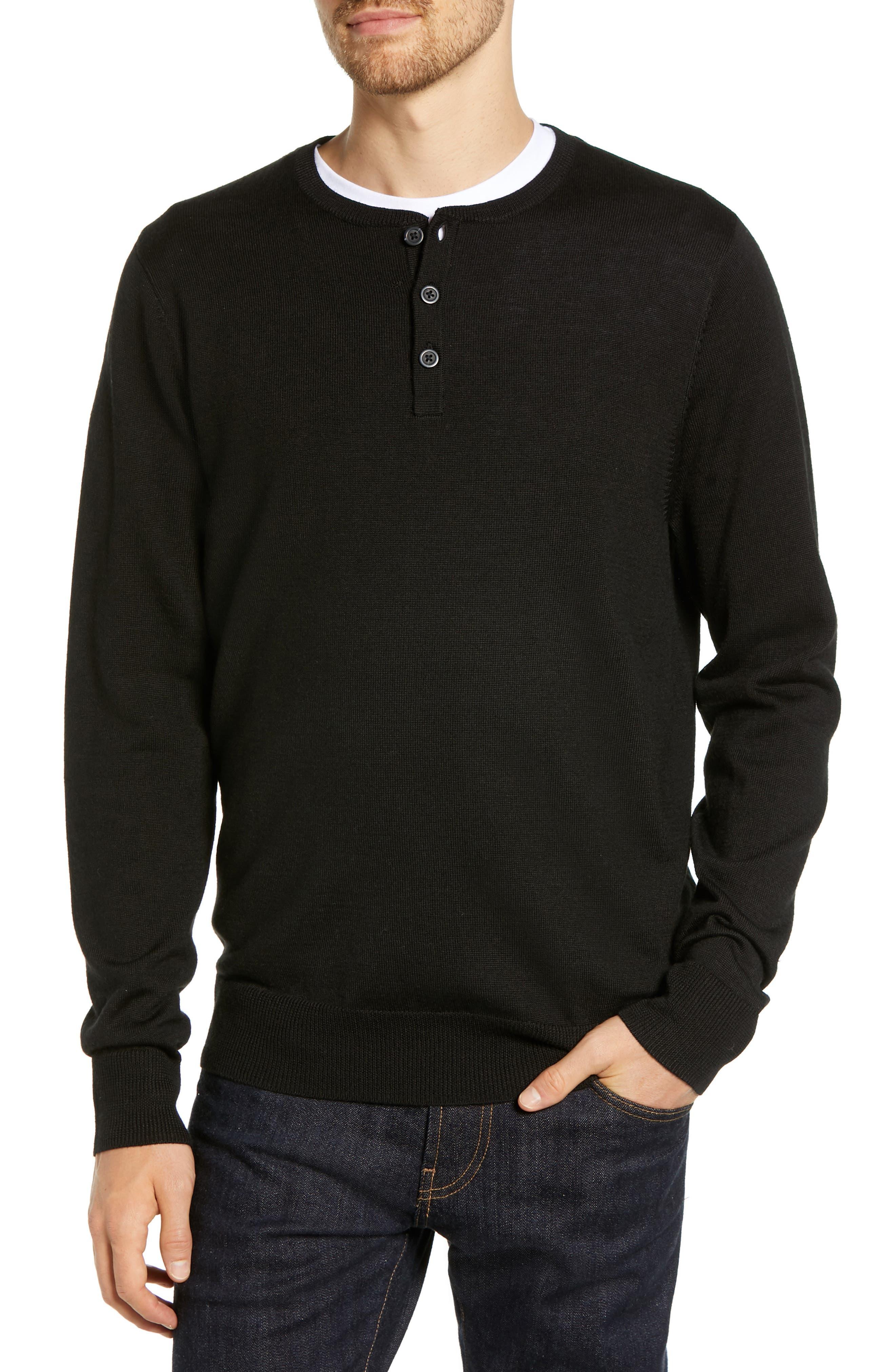 Nordstrom Shop Regular Fit Wool Blend Henley Sweater