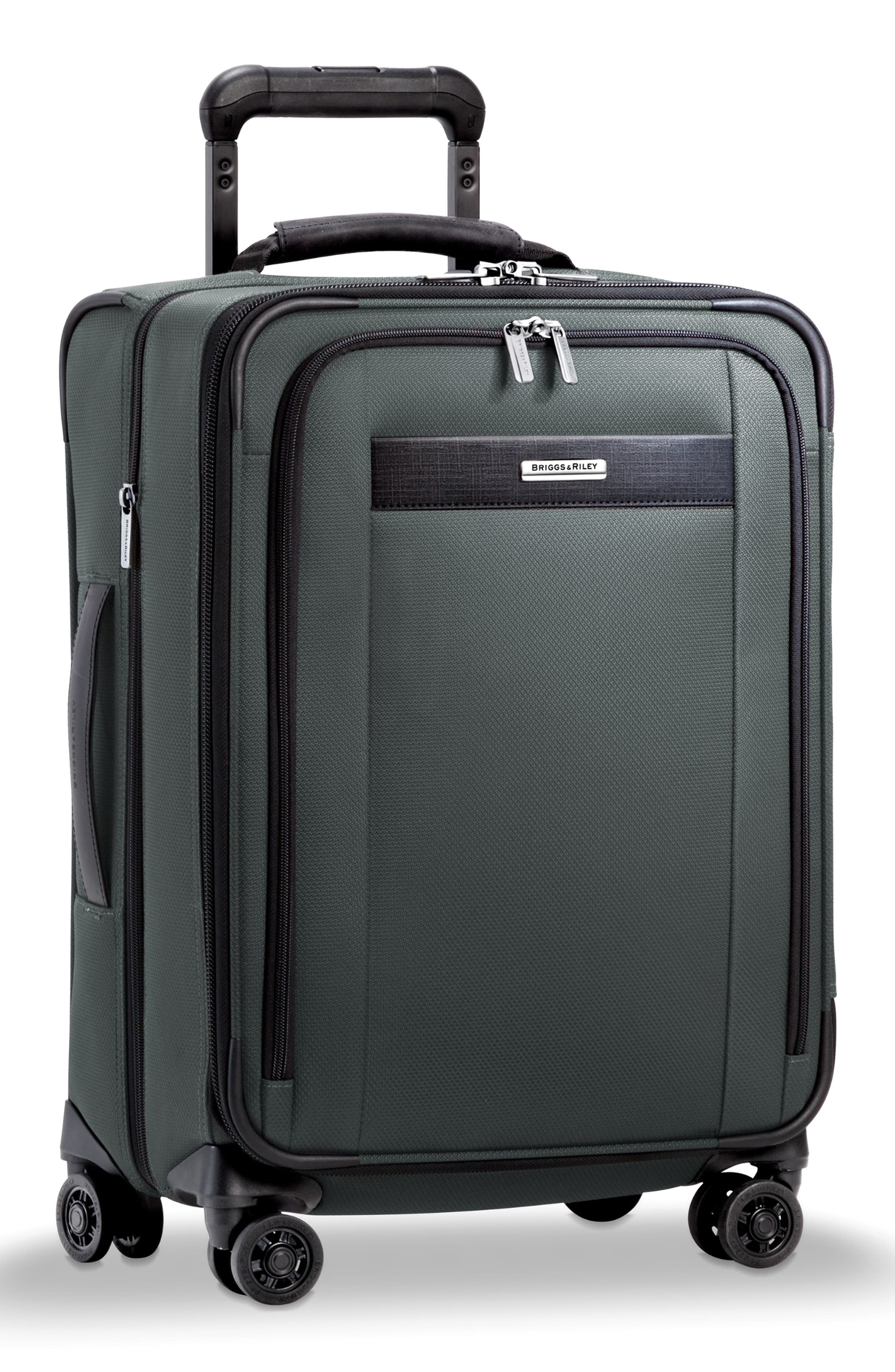 BRIGGS & RILEY, Transcend Tall Expandable Wheeled Suitcase, Alternate thumbnail 5, color, SLATE GREY