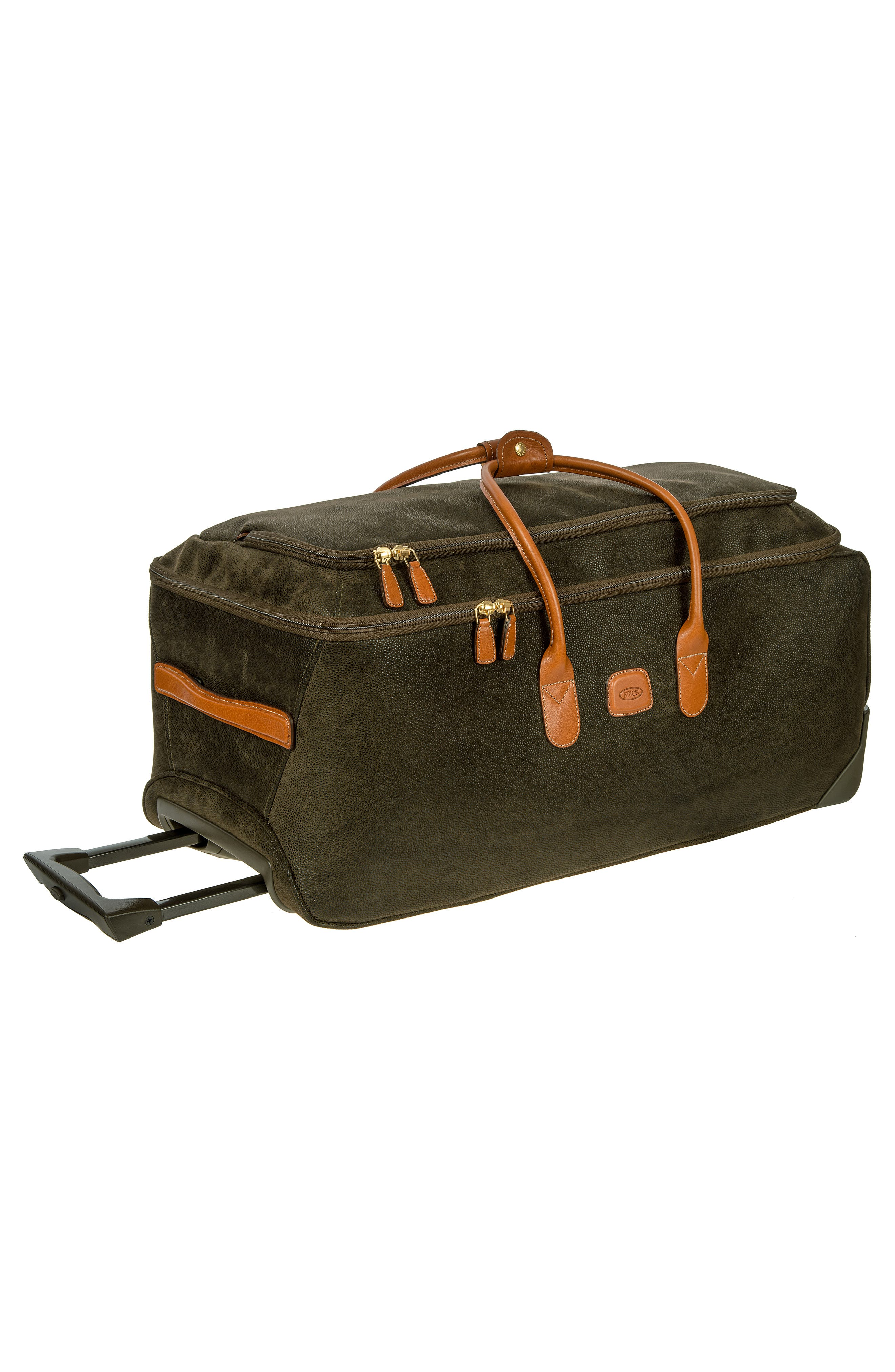 BRIC'S, Brics Life Collection 28-Inch Rolling Duffle Bag, Alternate thumbnail 5, color, OLIVE