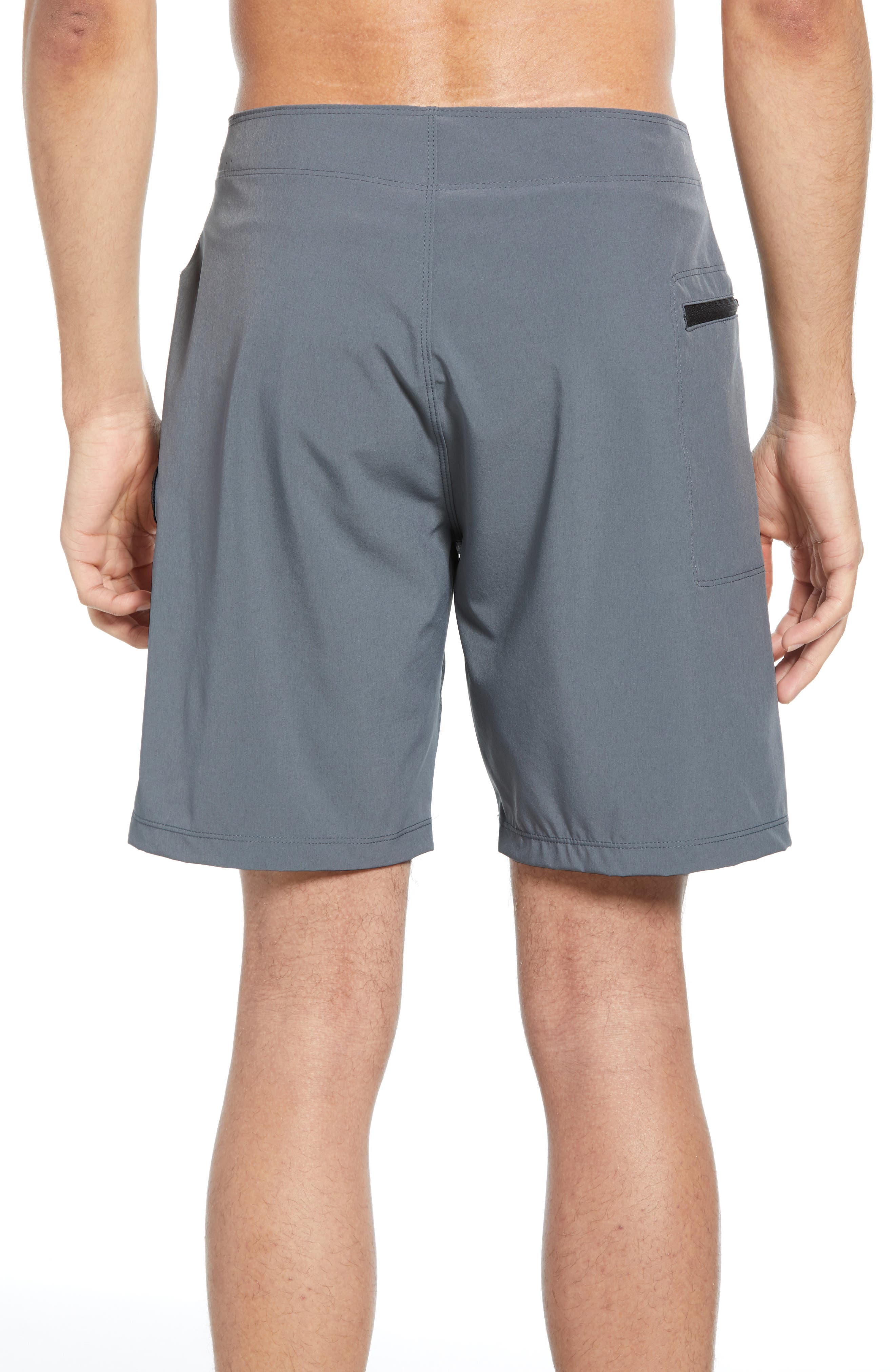 HURLEY, Phantom One & Only Board Shorts, Alternate thumbnail 2, color, COOL GREY