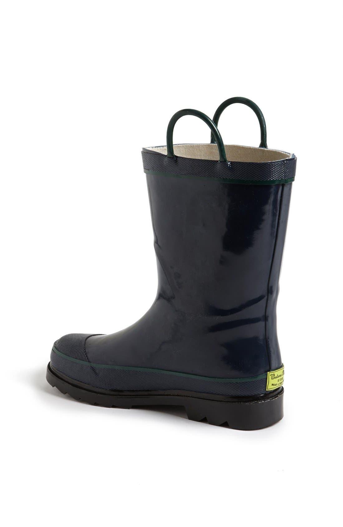 WESTERN CHIEF, Firechief 2 Waterproof Rain Boot, Alternate thumbnail 3, color, NAVY