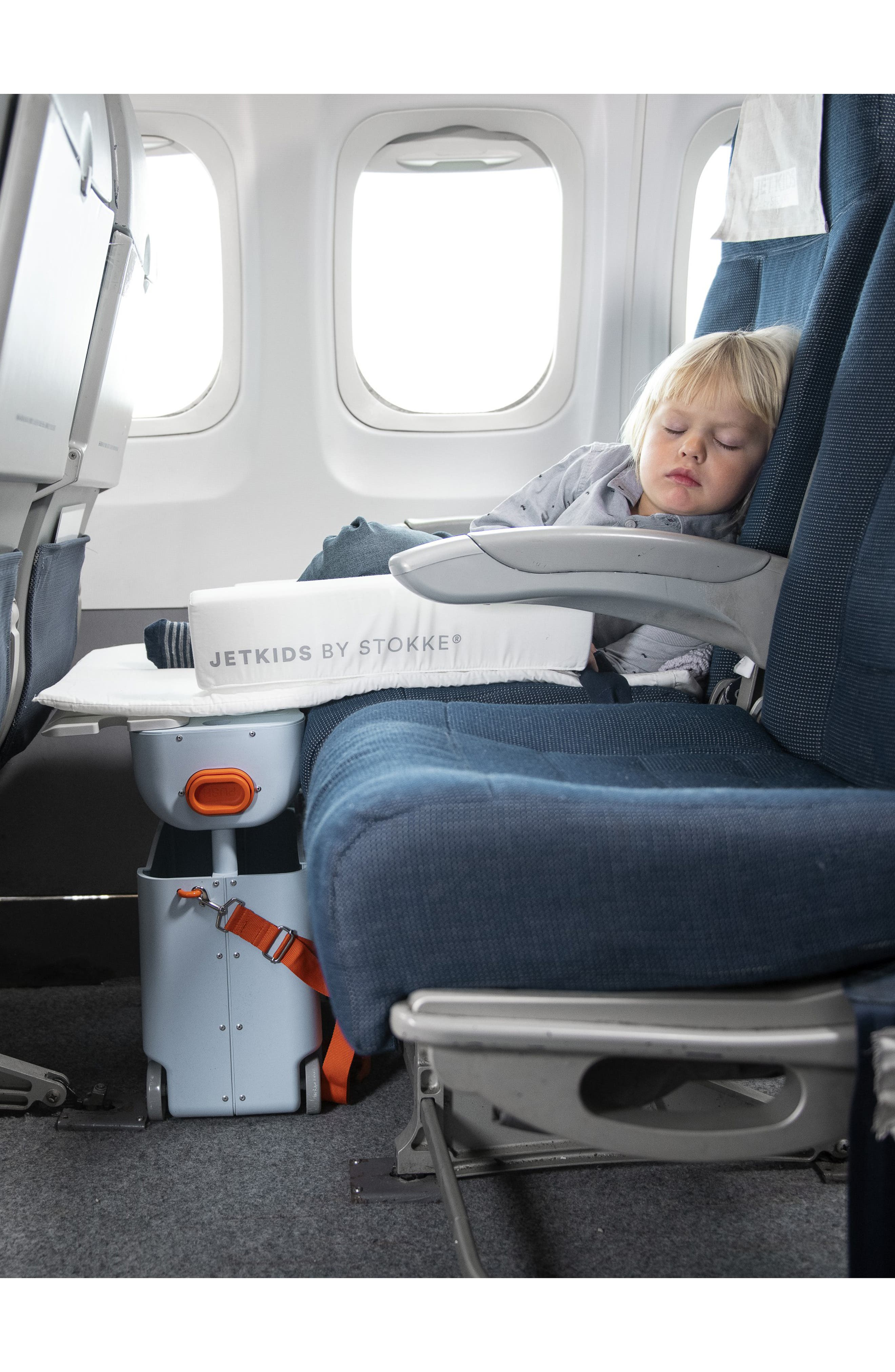 STOKKE, Jetkids by Stokke Bedbox<sup>®</sup> Ride-On Carry-On Suitcase, Alternate thumbnail 4, color, GREEN