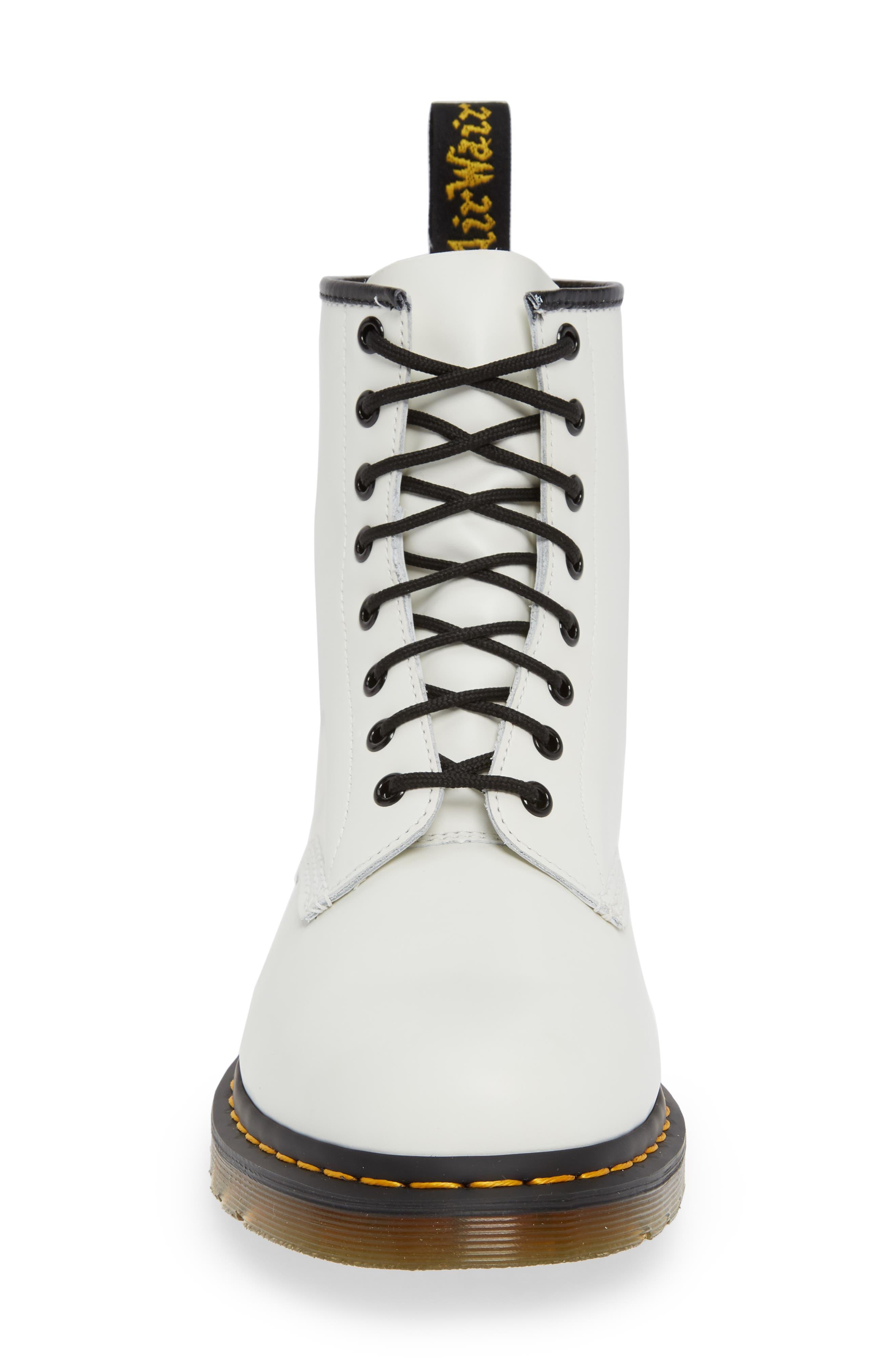 DR. MARTENS, '1460' Boot, Alternate thumbnail 4, color, WHITE
