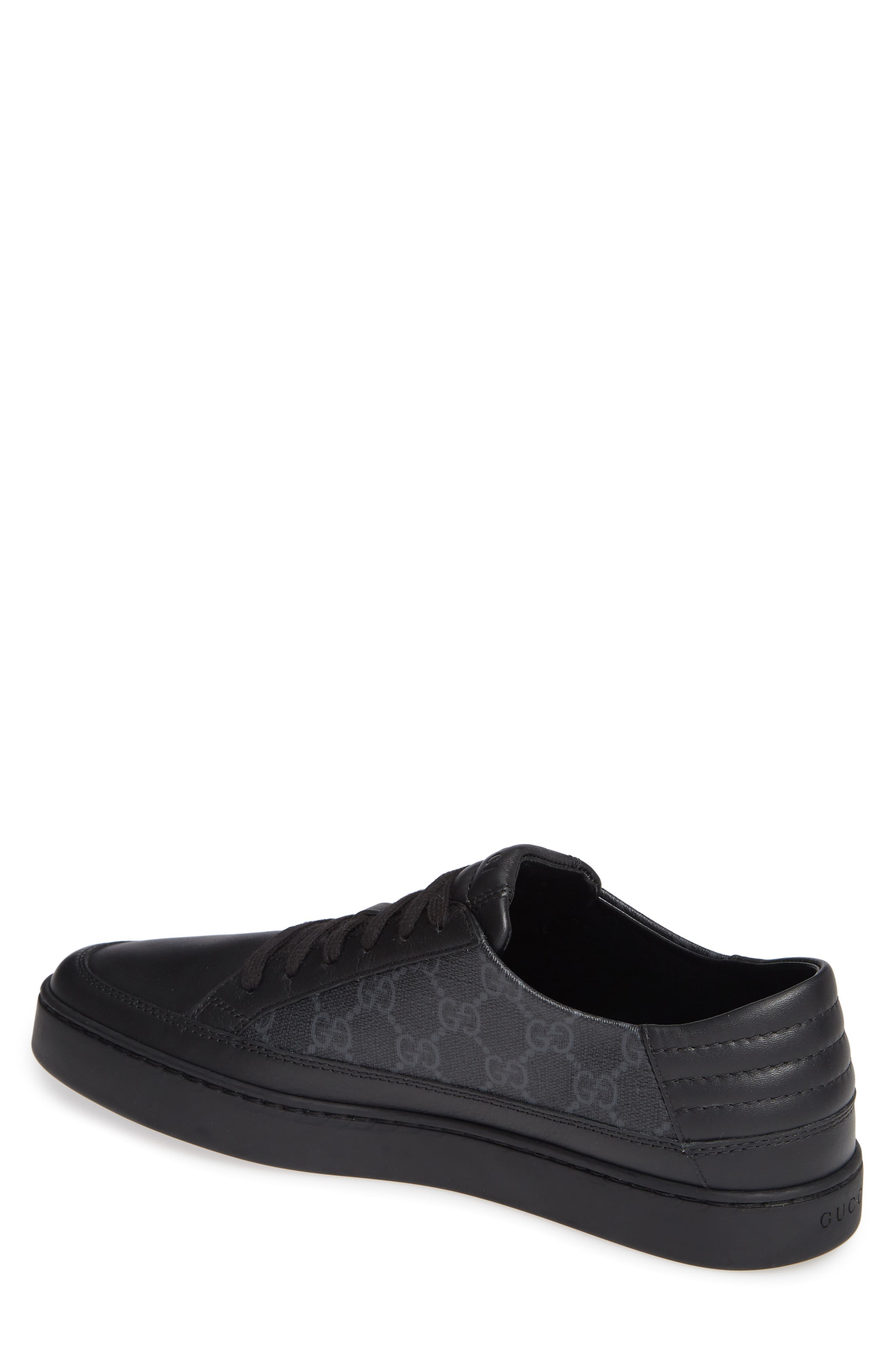 GUCCI, 'Common' Low-Top Sneaker, Alternate thumbnail 2, color, NERO/ BLACK