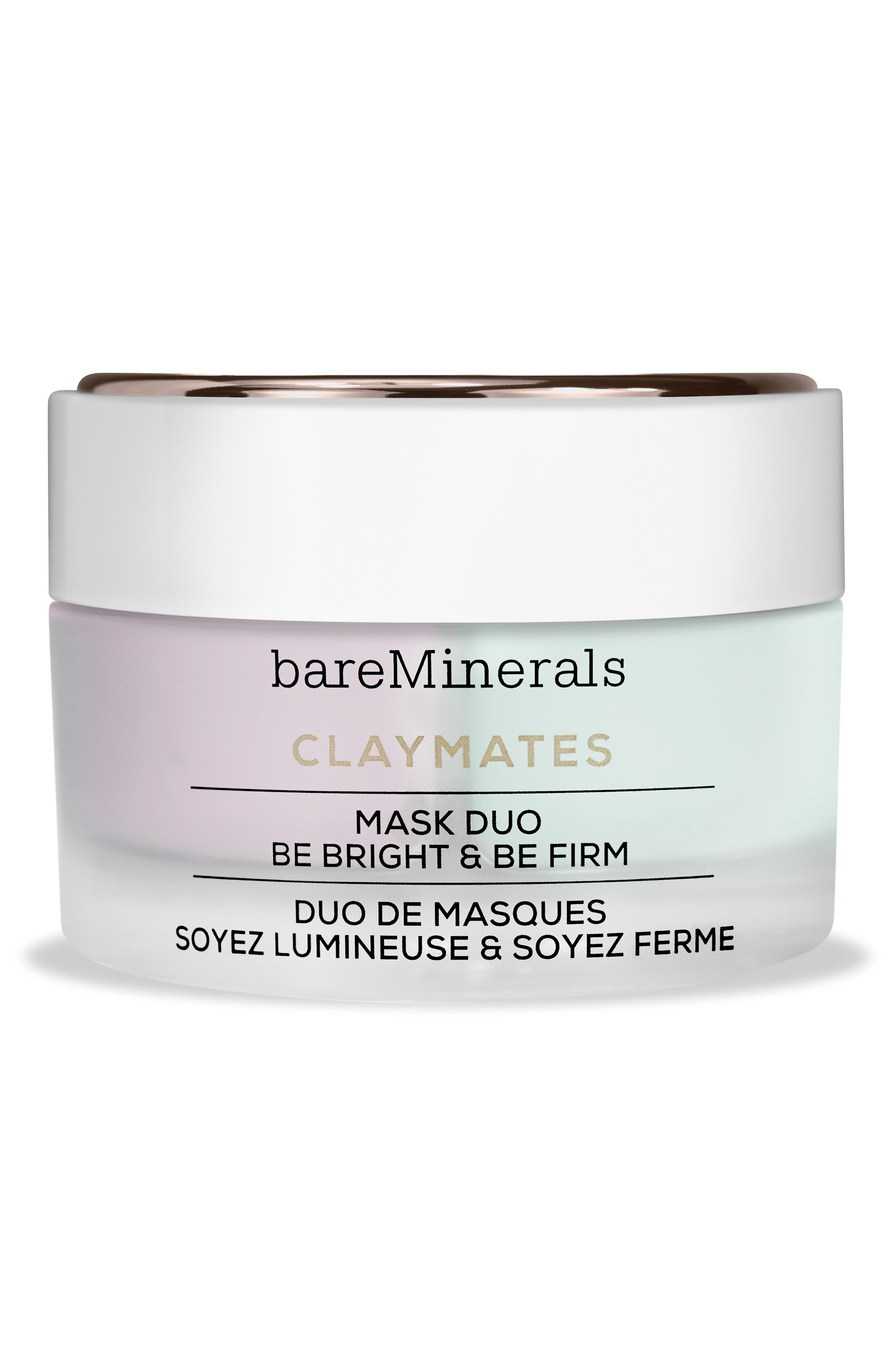 BAREMINERALS<SUP>®</SUP>, Be Bright & Be Firm Claymates Mask Duo, Main thumbnail 1, color, NO COLOR