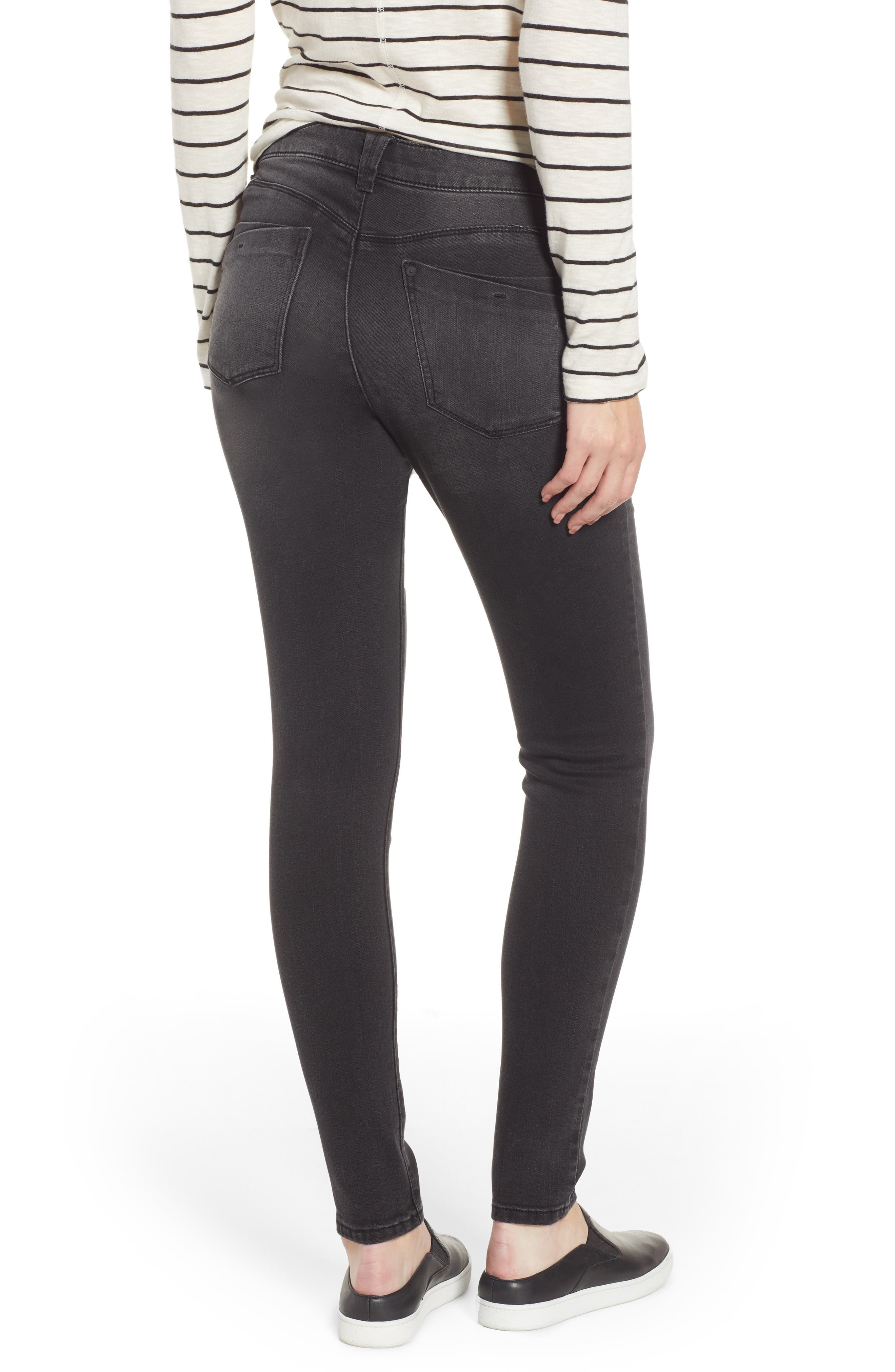 WIT & WISDOM, Contemporary Skinny Jeans, Alternate thumbnail 2, color, BLACK