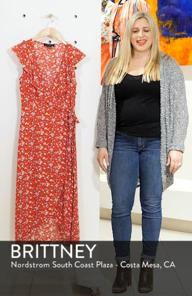 Jolynn Faux Wrap Midi Dress, sales video thumbnail
