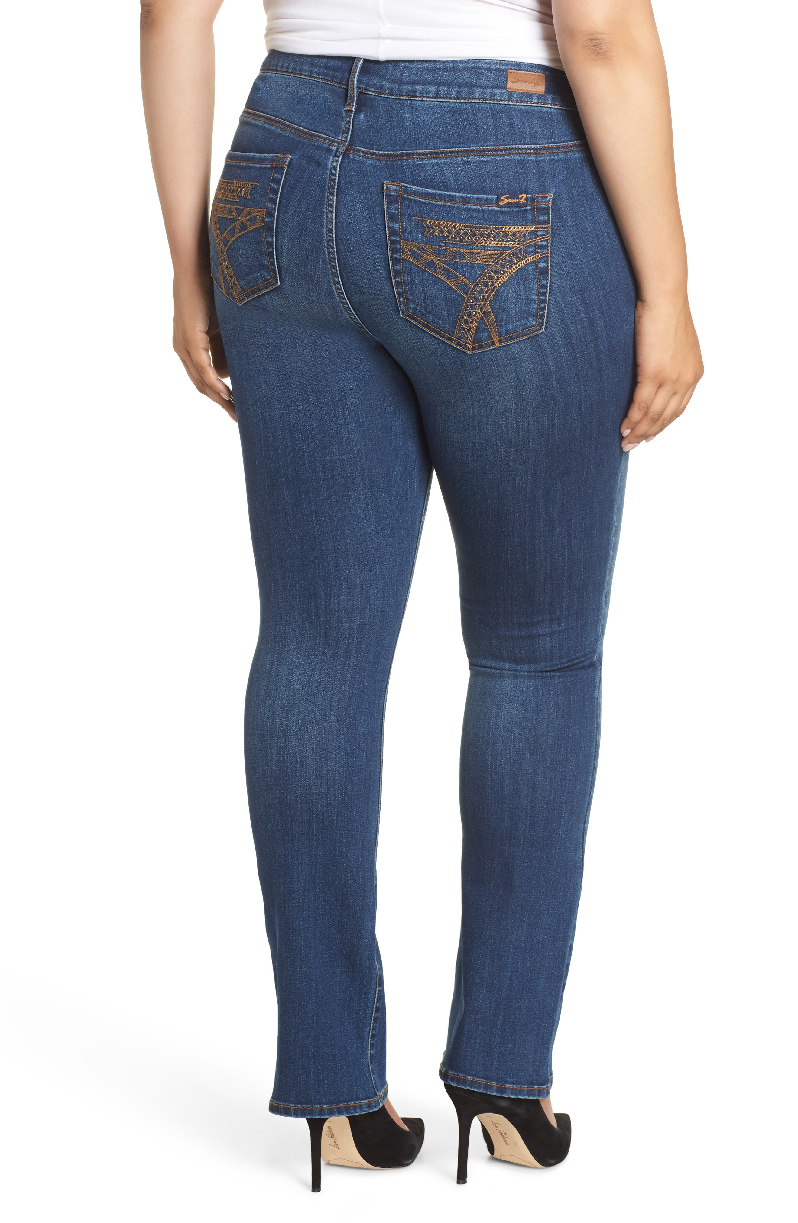 SEVEN7, Mid Rise Micro Bootcut Jeans, Alternate thumbnail 2, color, GENERATION