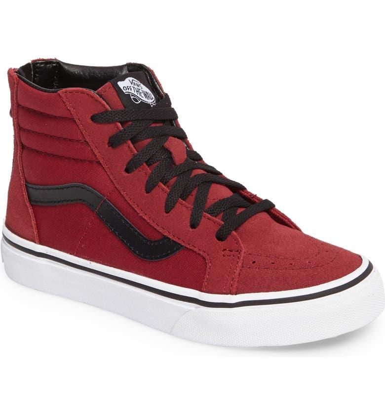 d248b64f557235 Vans SK8-Hi Zip Sneaker (Baby