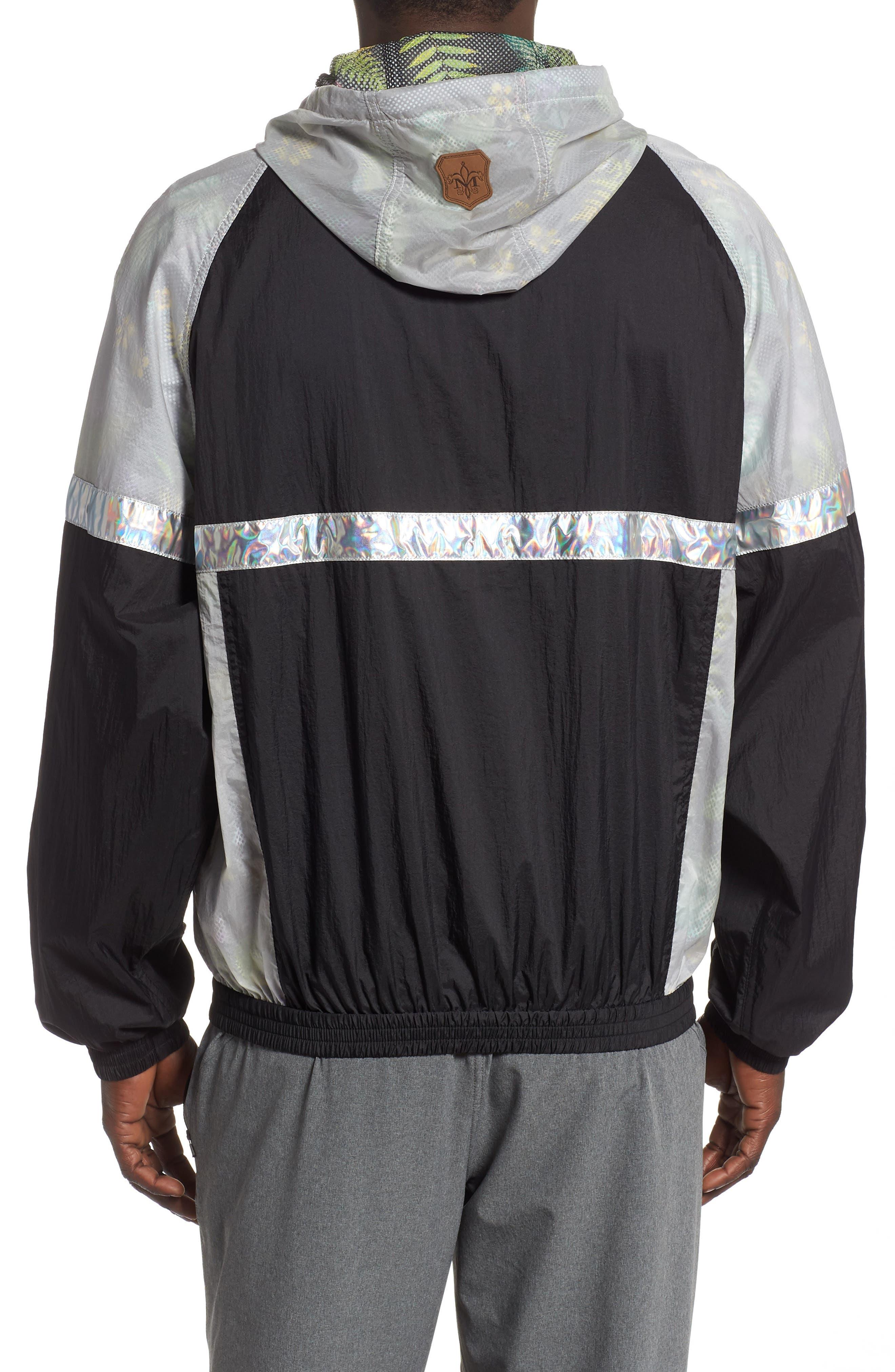 MACKAGE, Axel Hooded Rain Jacket, Alternate thumbnail 2, color, MULTI