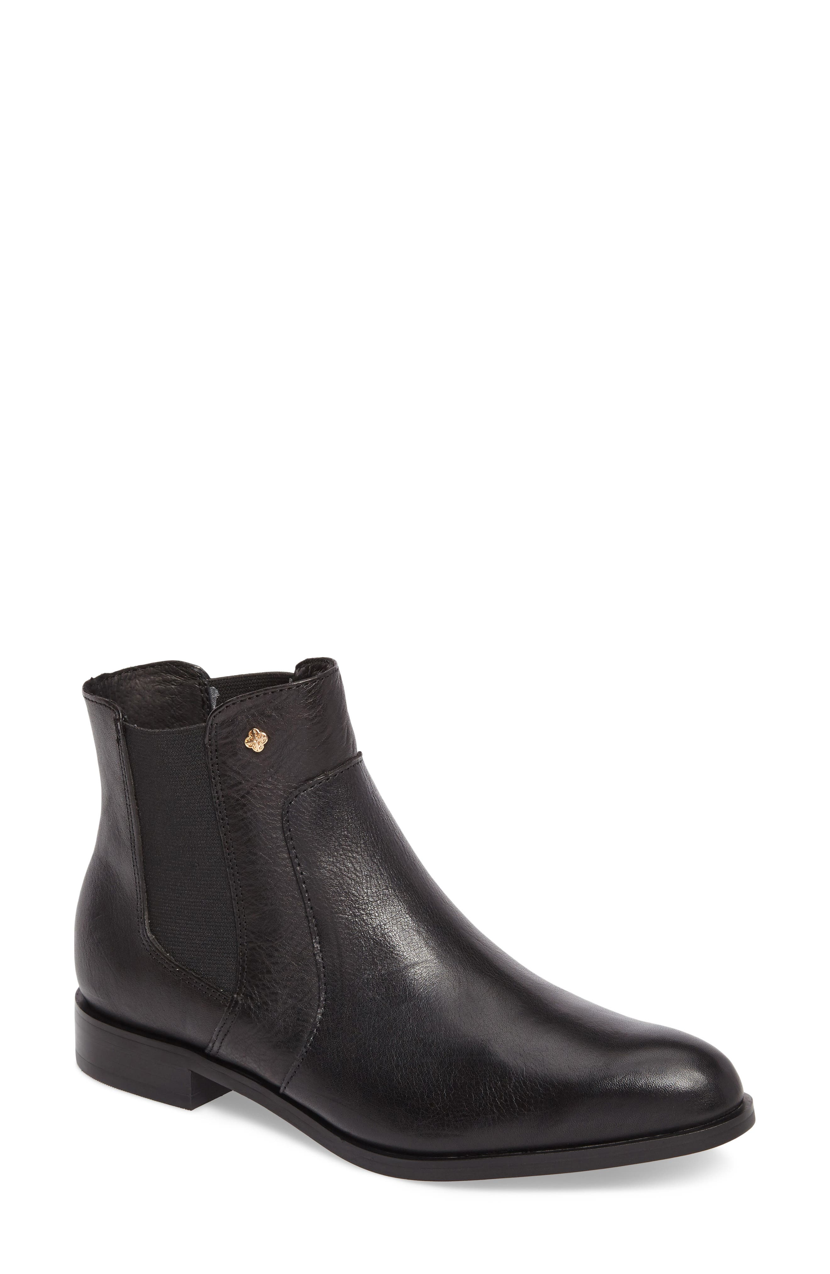 ISOLÁ Mora Bootie, Main, color, BLACK LEATHER