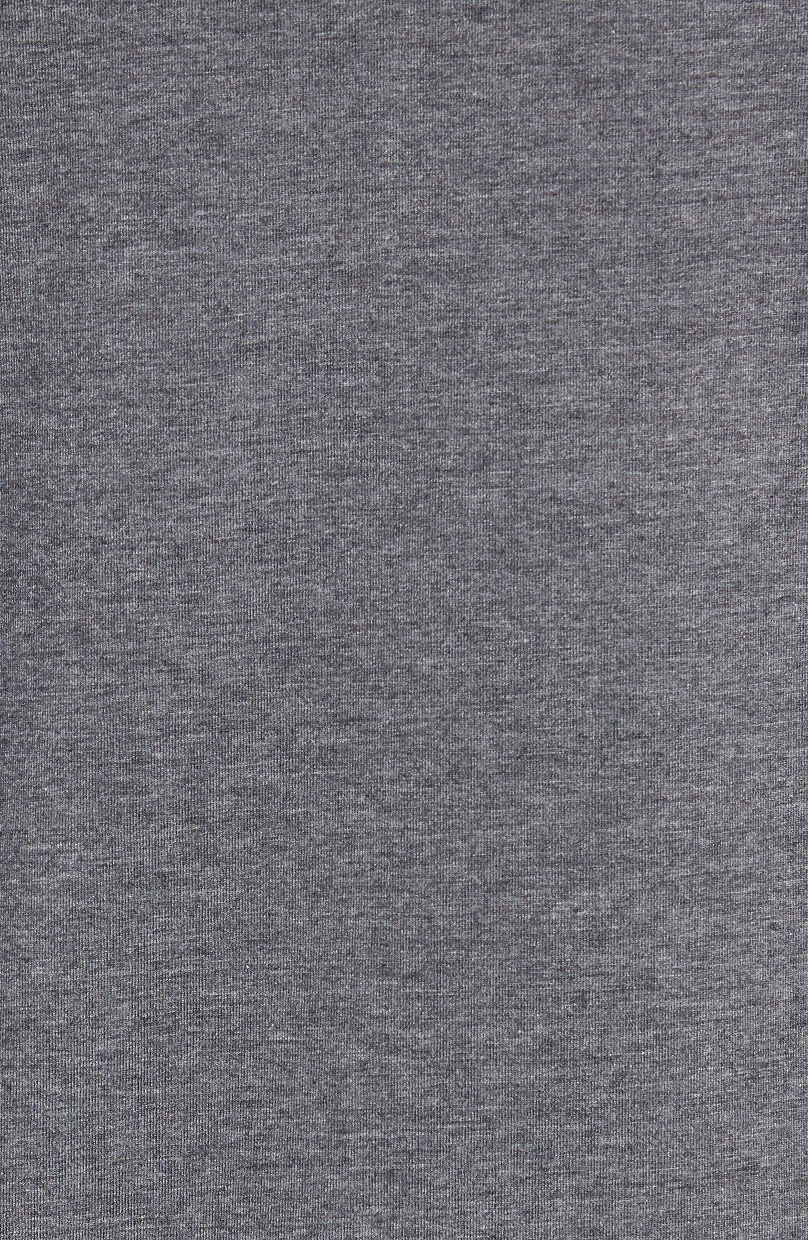 TASC PERFORMANCE, Carrollton Quarter Zip Sweatshirt, Alternate thumbnail 5, color, BLACK HEATHER/ MERCURY