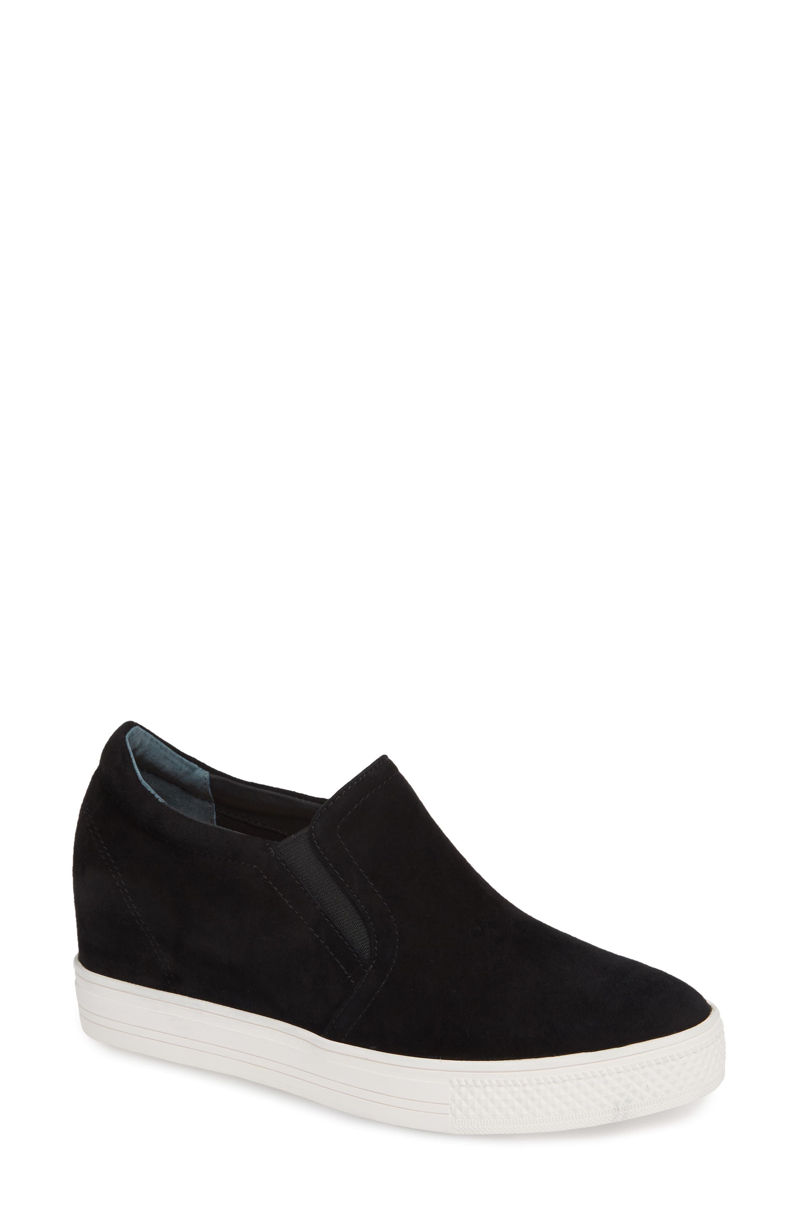 CASLON<SUP>®</SUP> Austin Slip-On Sneaker, Main, color, BLACK SUEDE