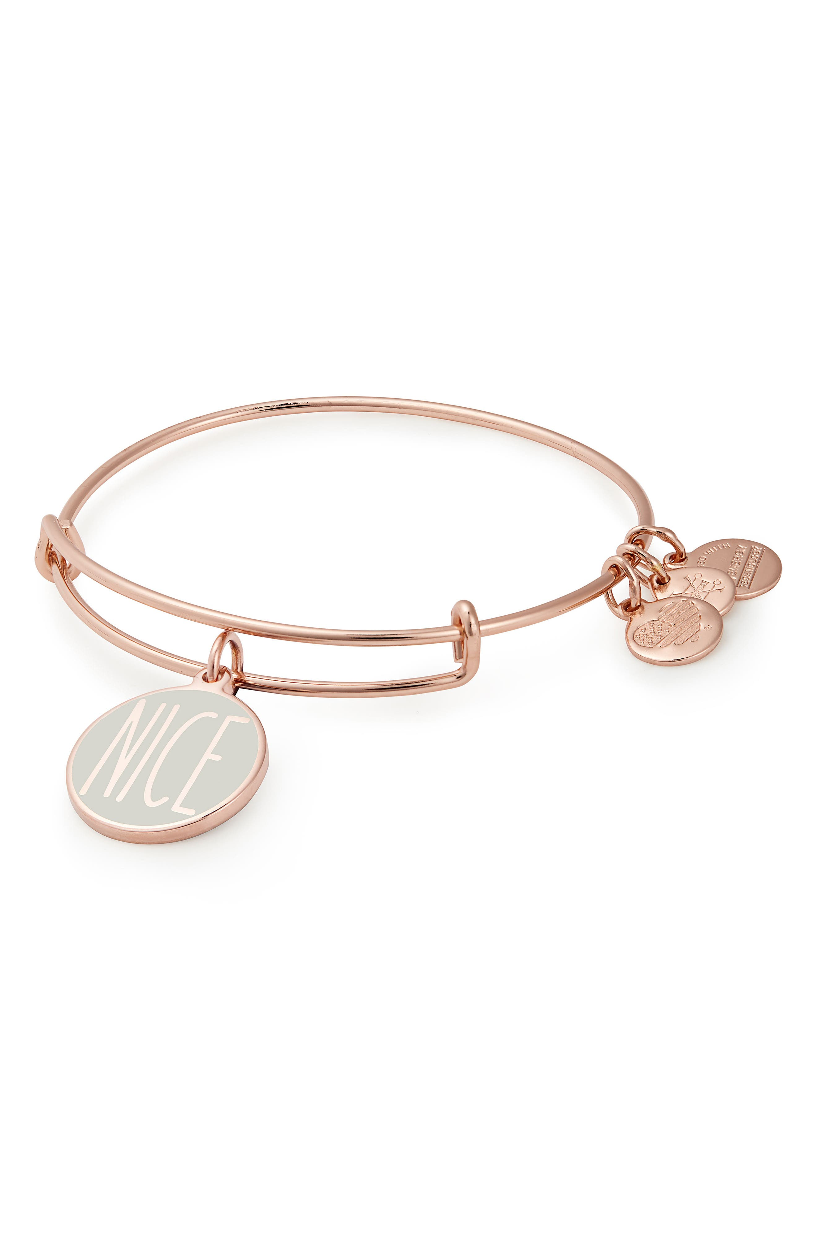 ALEX AND ANI Words are Powerful - Naughty or Nice Bangle, Main, color, 650