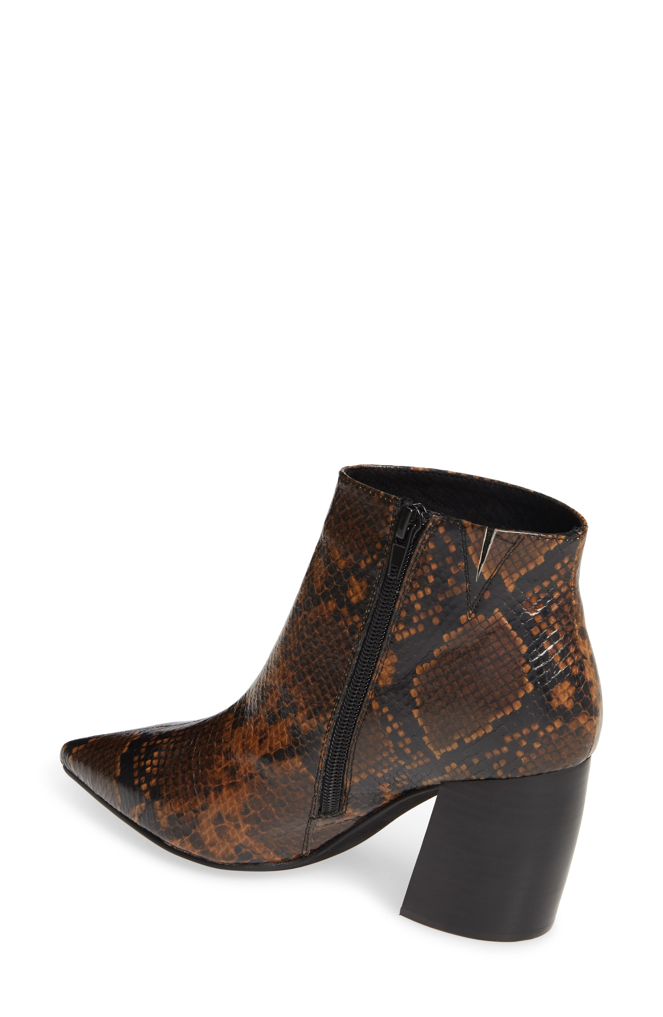 JEFFREY CAMPBELL, Final Bootie, Alternate thumbnail 2, color, NATURAL/ BLACK SNAKE PRINT