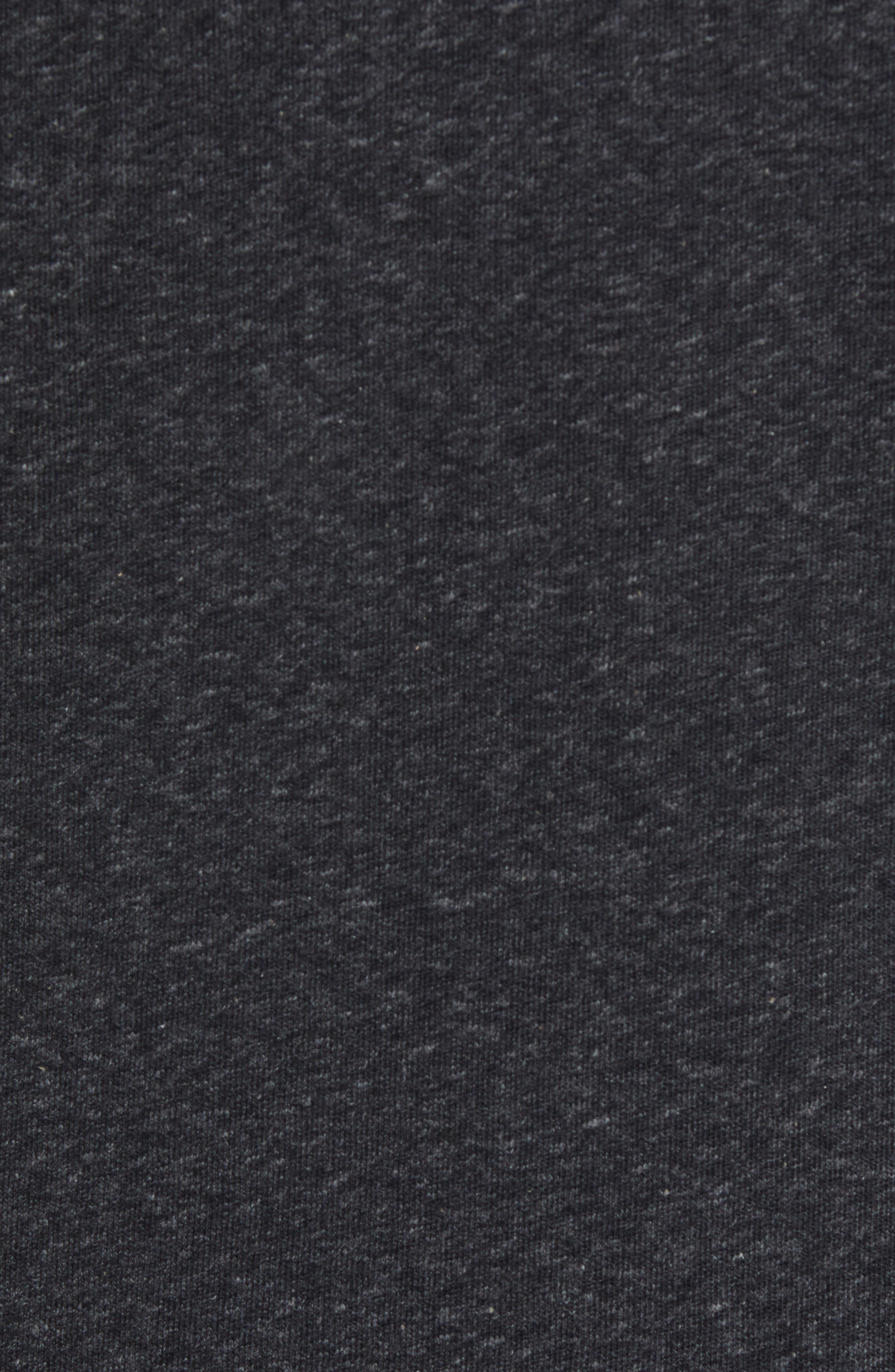 ROBERT BARAKETT, Front Zip Knit Jacket, Alternate thumbnail 5, color, BLACK
