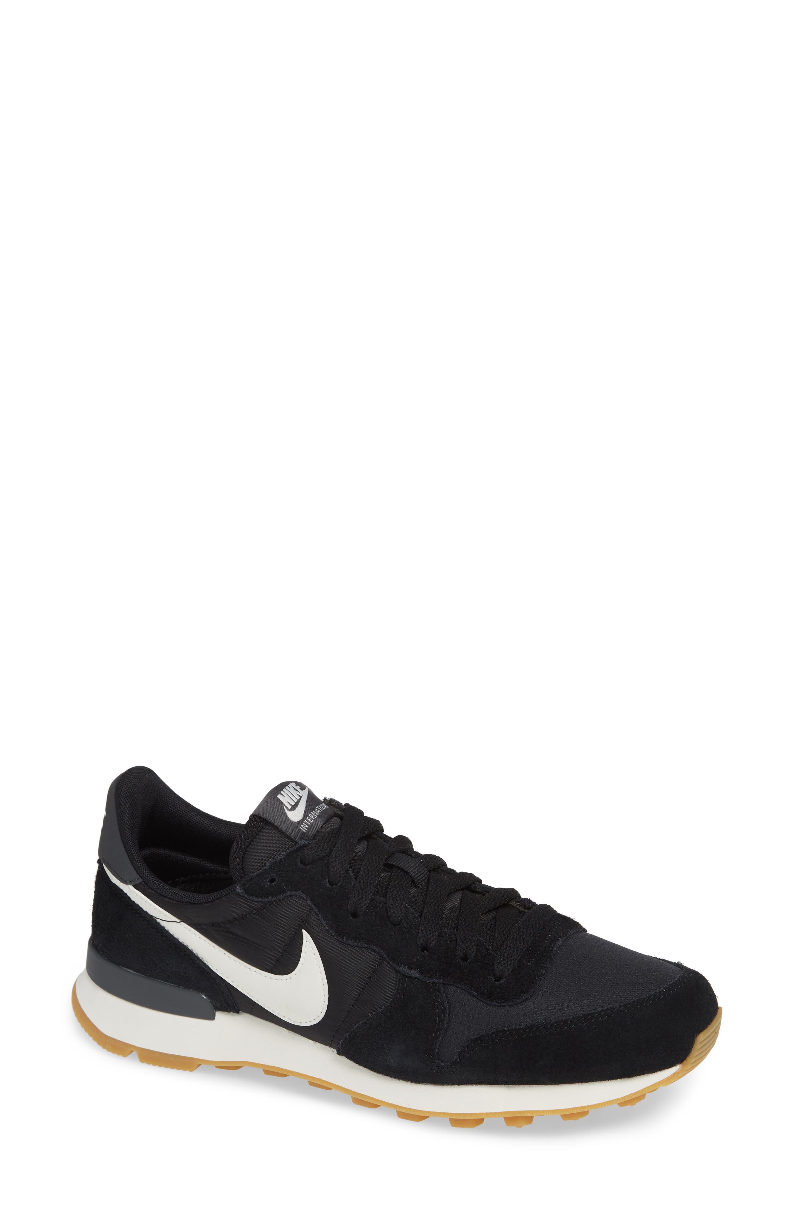 NIKE, 'Internationalist' Sneaker, Main thumbnail 1, color, 001