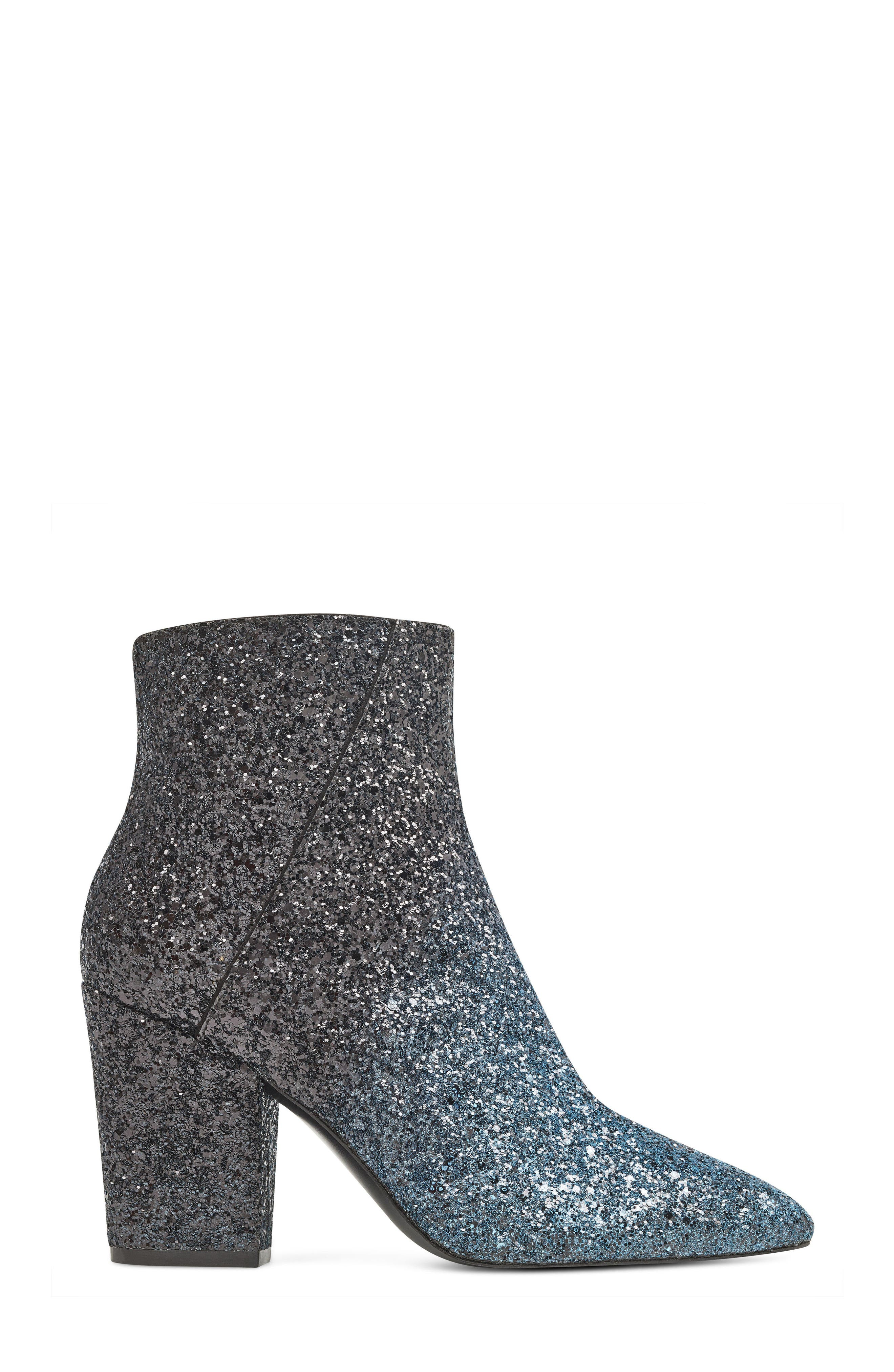 NINE WEST, Savitra Pointy Toe Bootie, Alternate thumbnail 3, color, 040