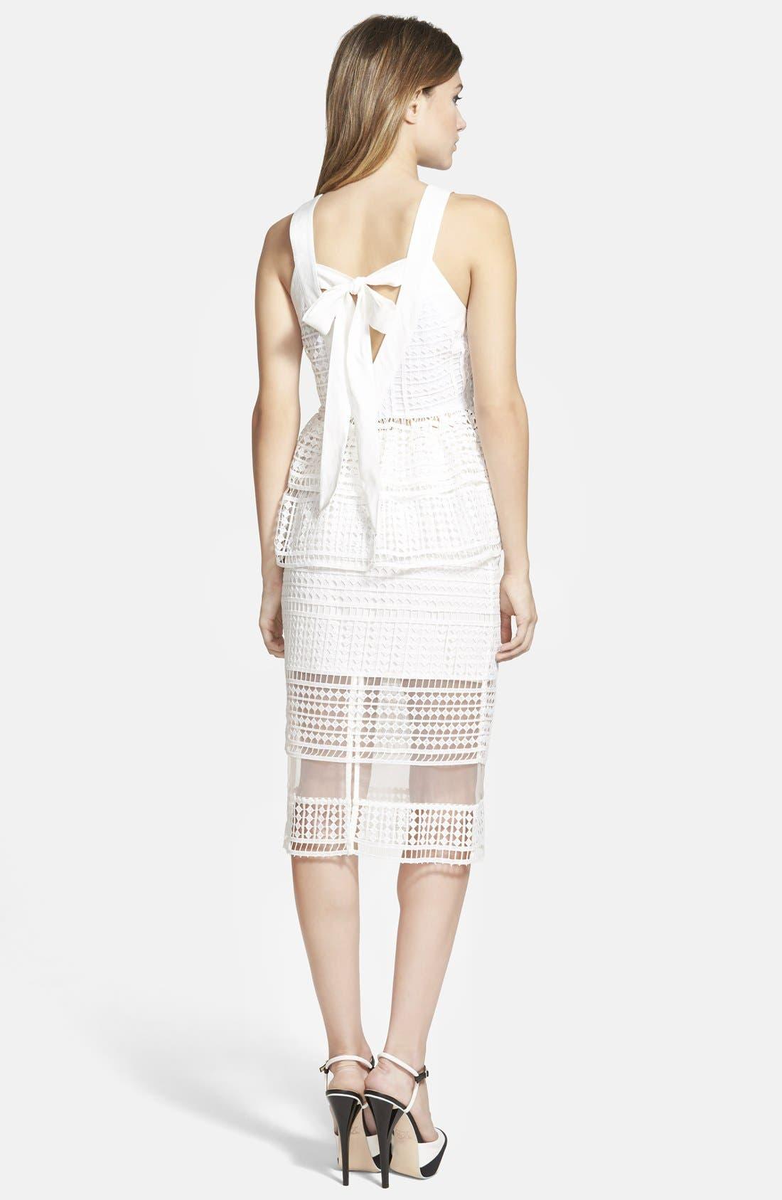 J.O.A., Lace Overlay Pencil Skirt, Alternate thumbnail 5, color, 900