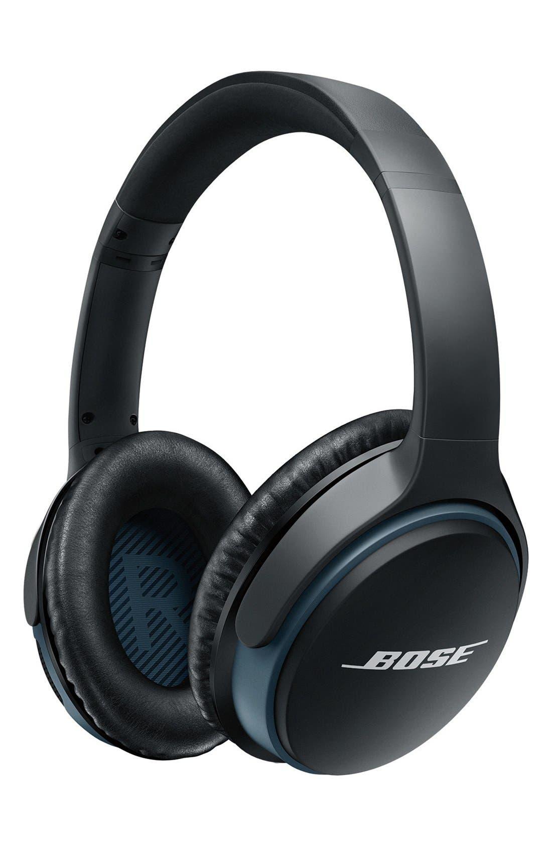 BOSE<SUP>®</SUP>, SoundLink<sup>®</sup> Around-Ear Bluetooth<sup>®</sup> Headphones, Main thumbnail 1, color, BLACK