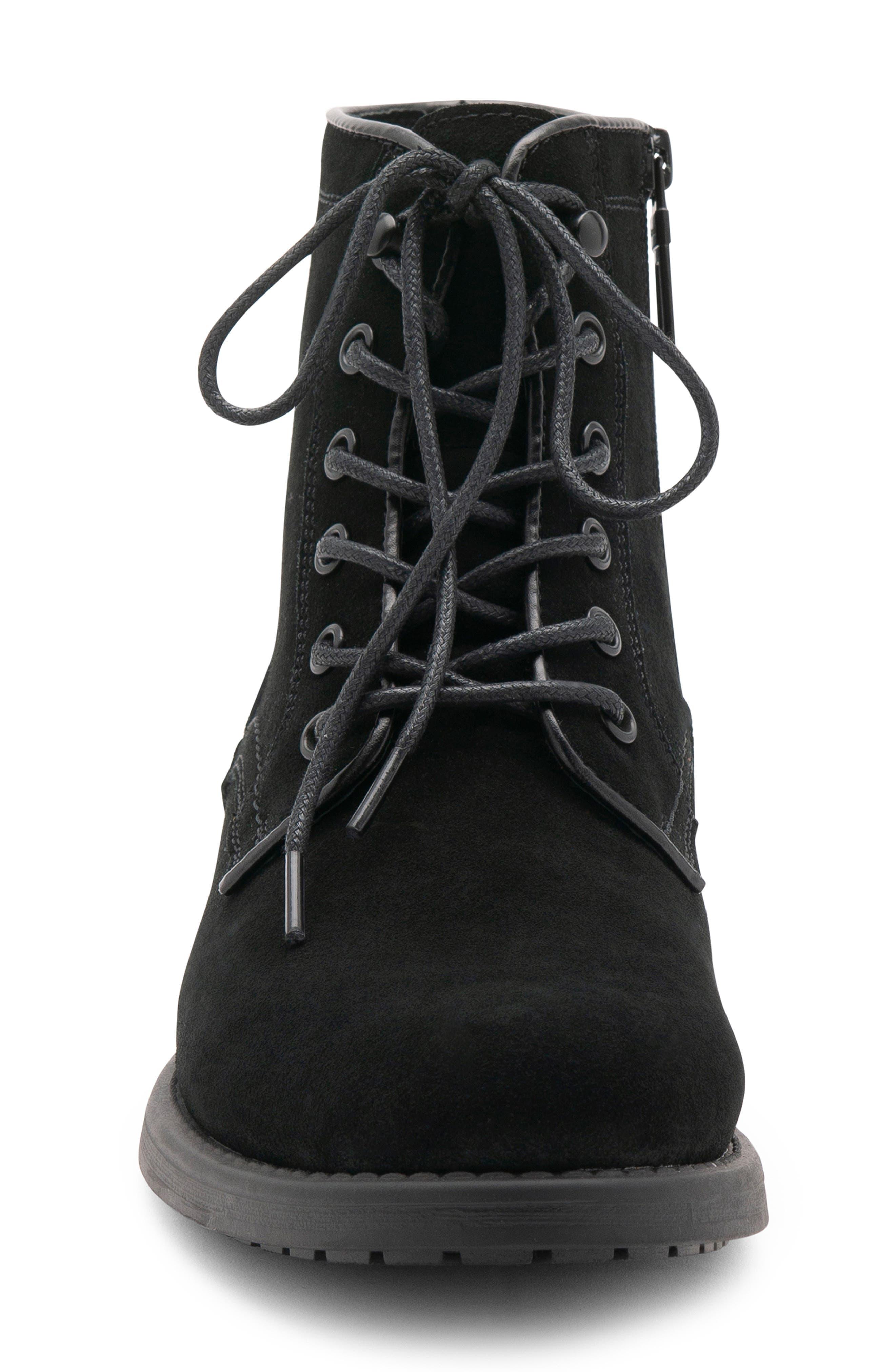 BLONDO, Peter Waterproof Plain Toe Boot, Alternate thumbnail 4, color, BLACK SUEDE