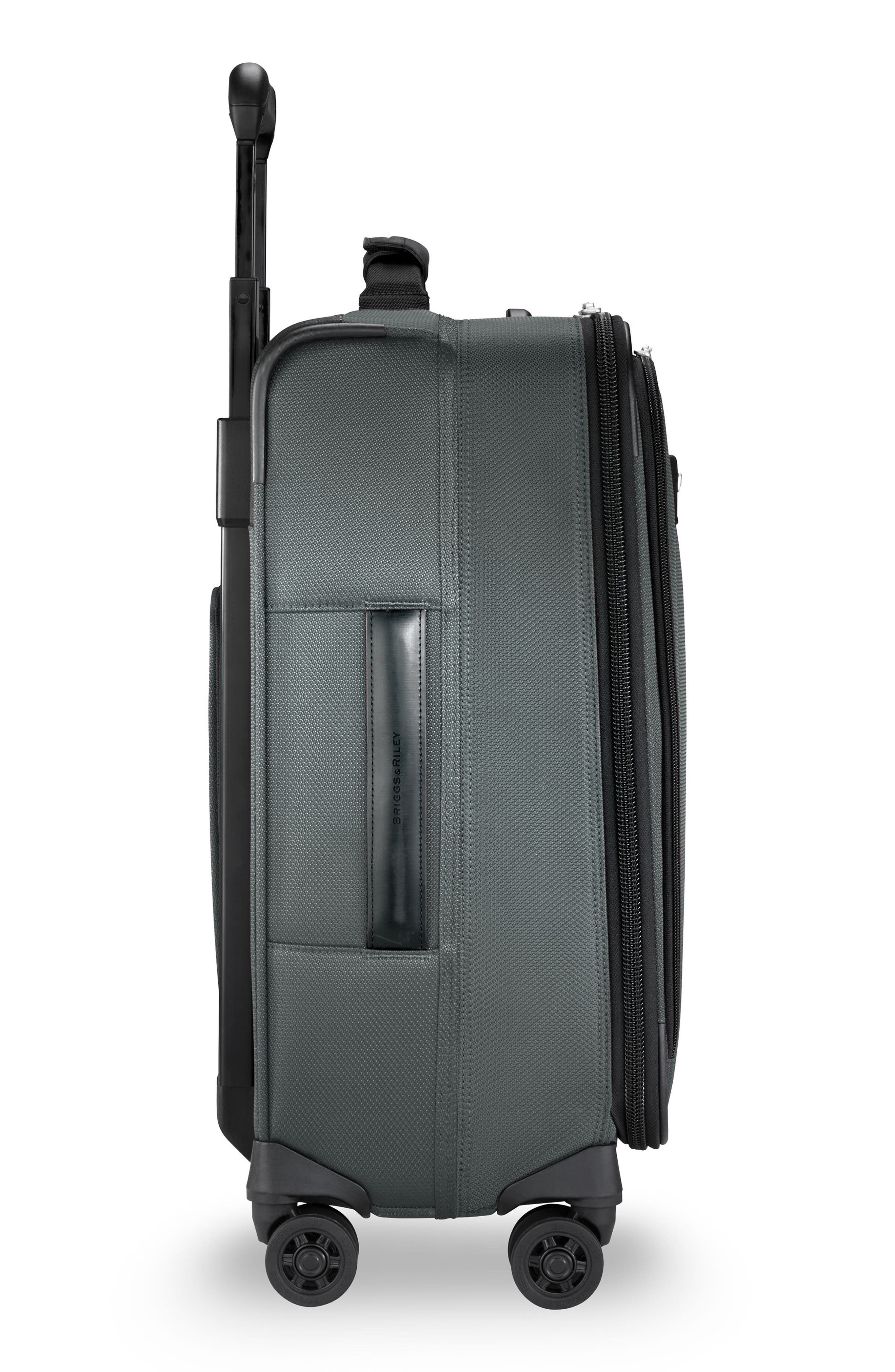 BRIGGS & RILEY, Transcend VX Wide Expandable 21-Inch Spinner Suitcase, Alternate thumbnail 3, color, SLATE GREY