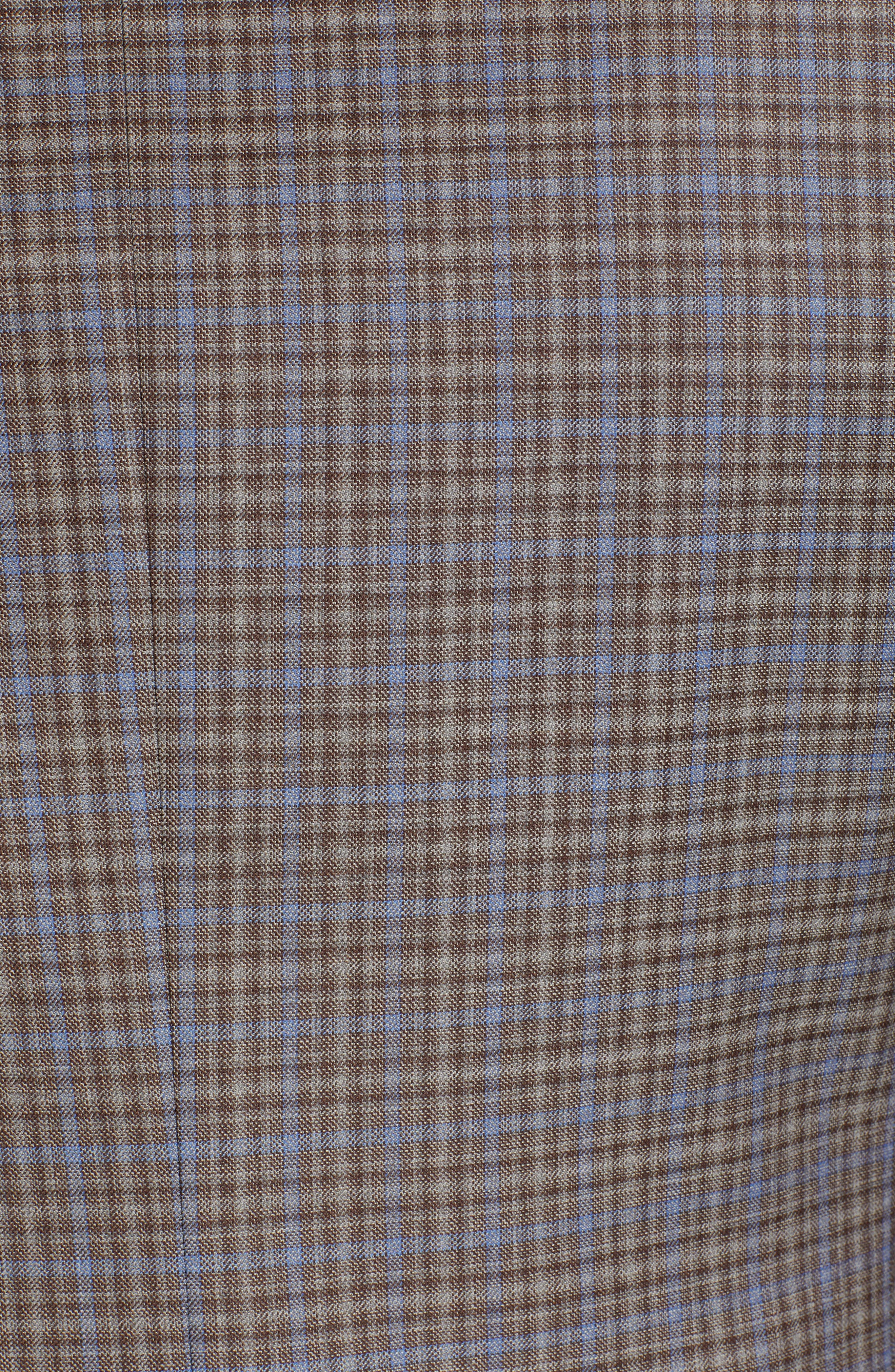 CANALI, Sienna Classic Fit Plaid Wool Sport Coat, Alternate thumbnail 6, color, BROWN