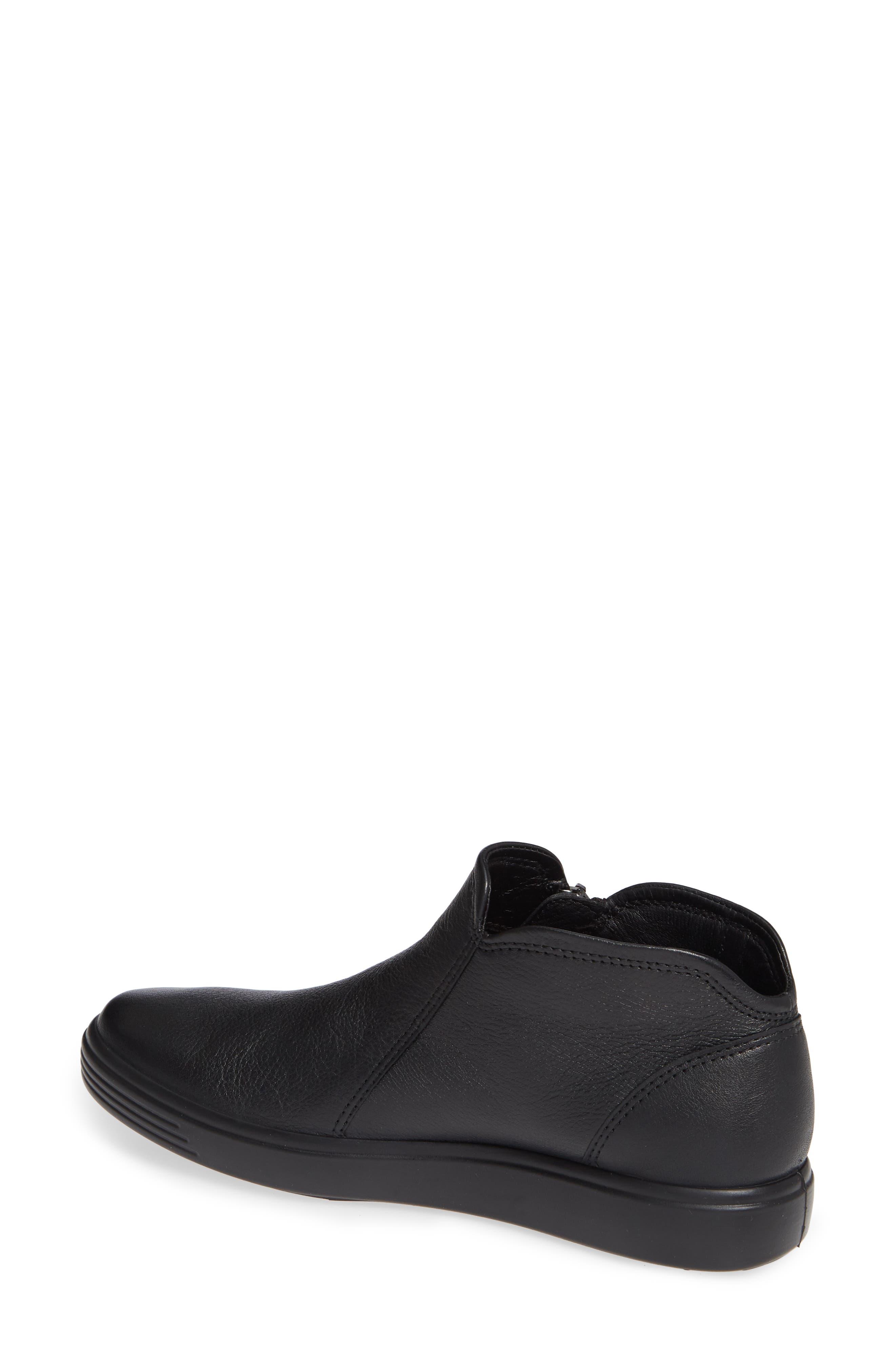 ECCO, Soft 7 Mid Top Sneaker, Alternate thumbnail 2, color, BLACK/ BLACK LEATHER