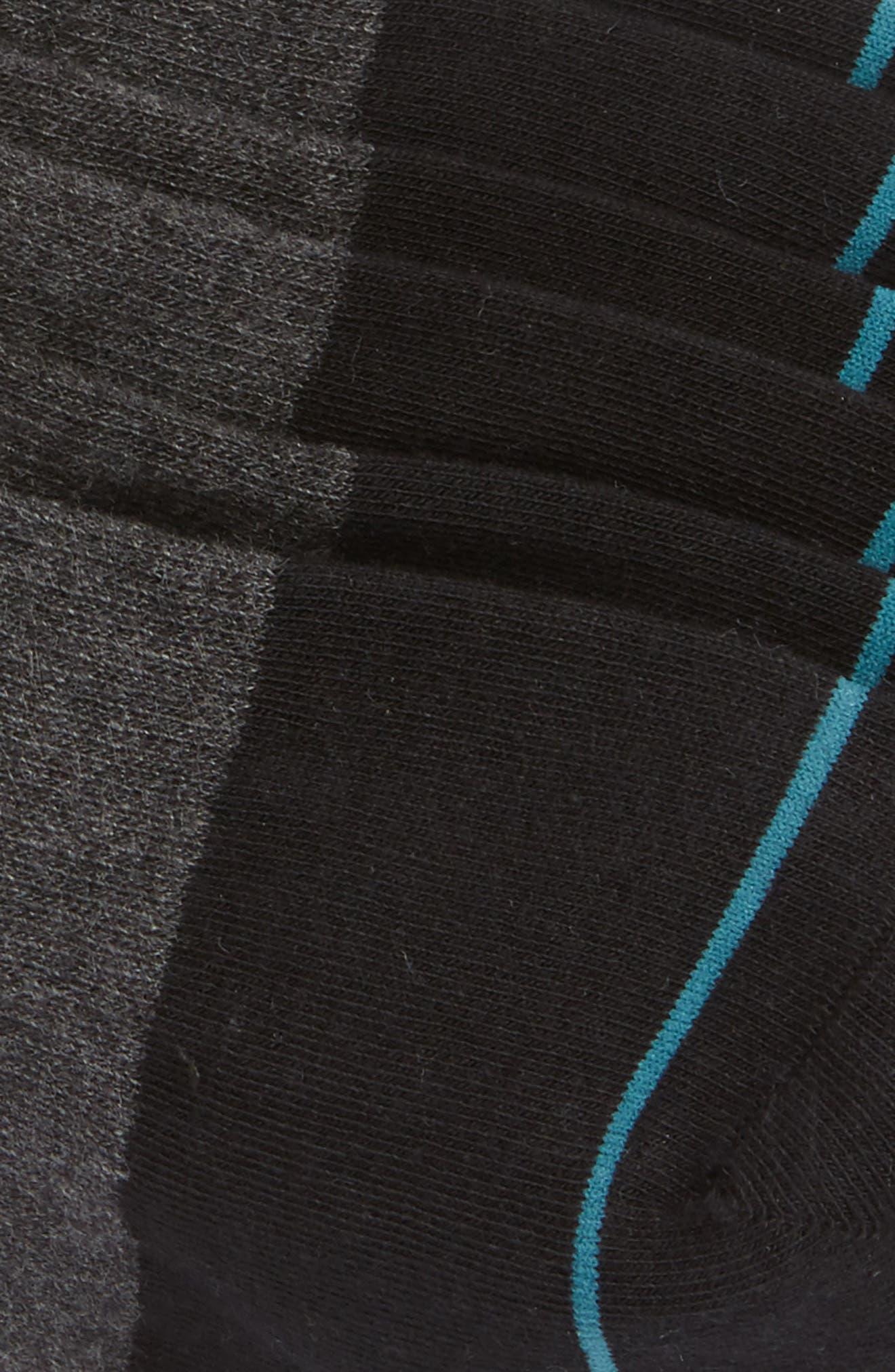 STANCE, Gamut 3-Pack No-Show Liner Socks, Alternate thumbnail 2, color, BLACK