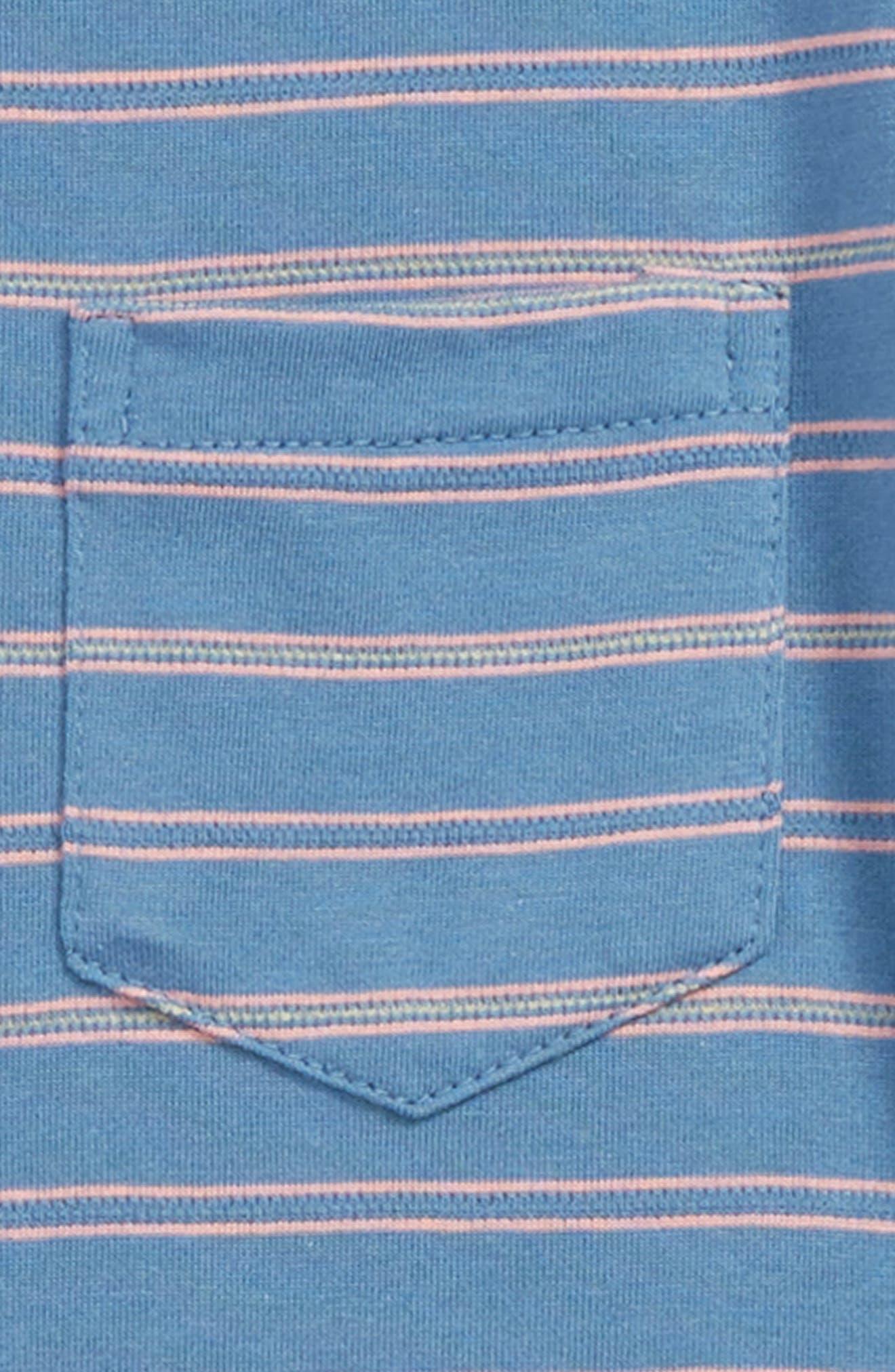 SOVEREIGN CODE, Forward Stripe T-Shirt, Alternate thumbnail 2, color, BLUE