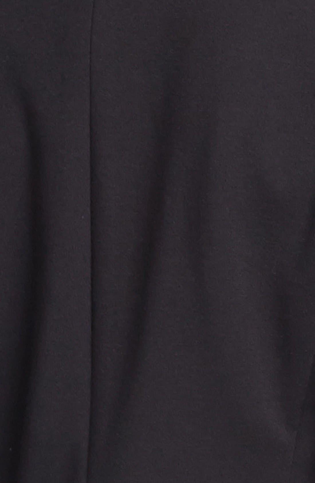 OLIVIA MOON, Knit Blazer, Alternate thumbnail 4, color, 001