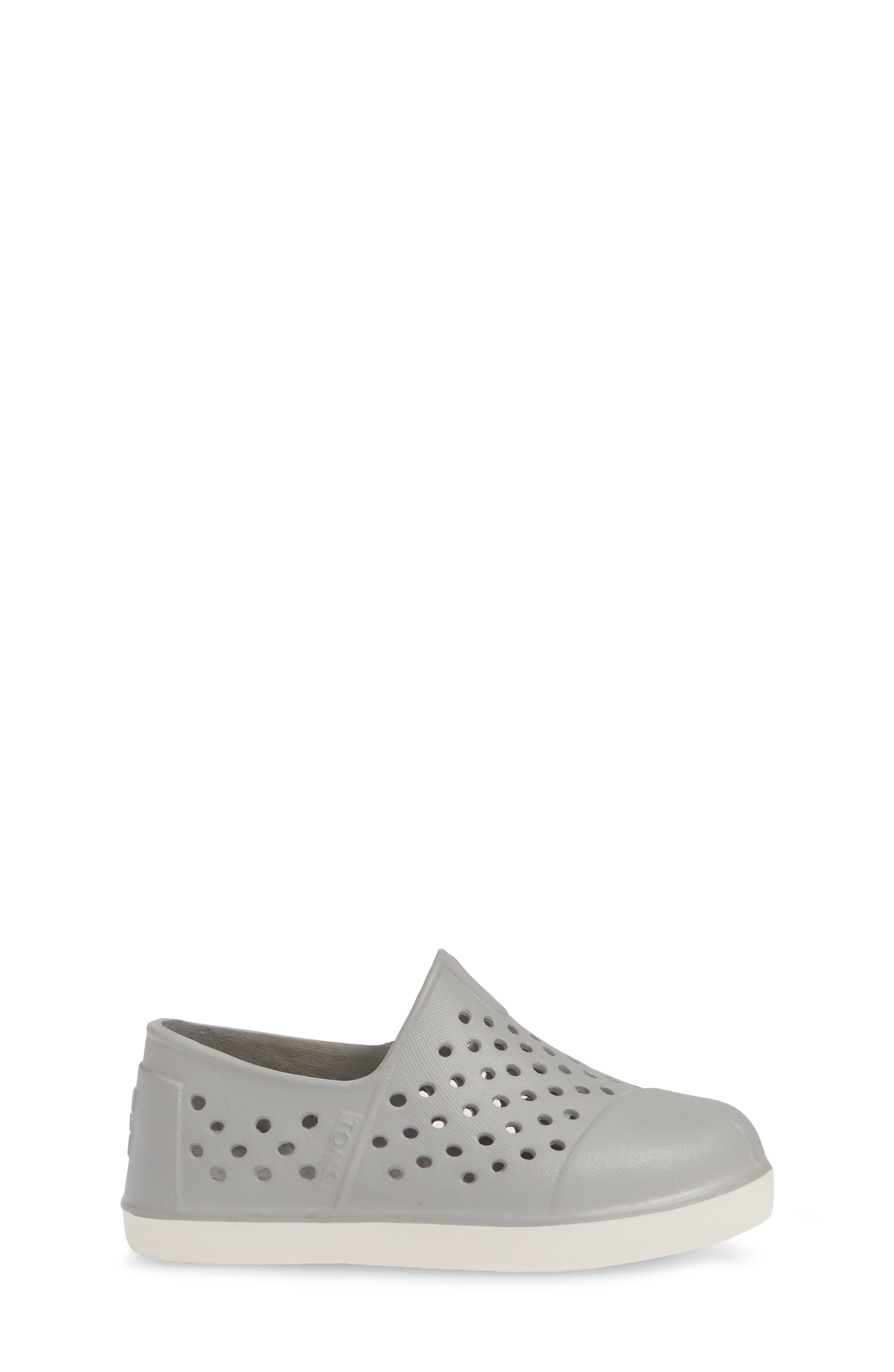 TOMS, 'Romper' Slip-On, Alternate thumbnail 3, color, GREY