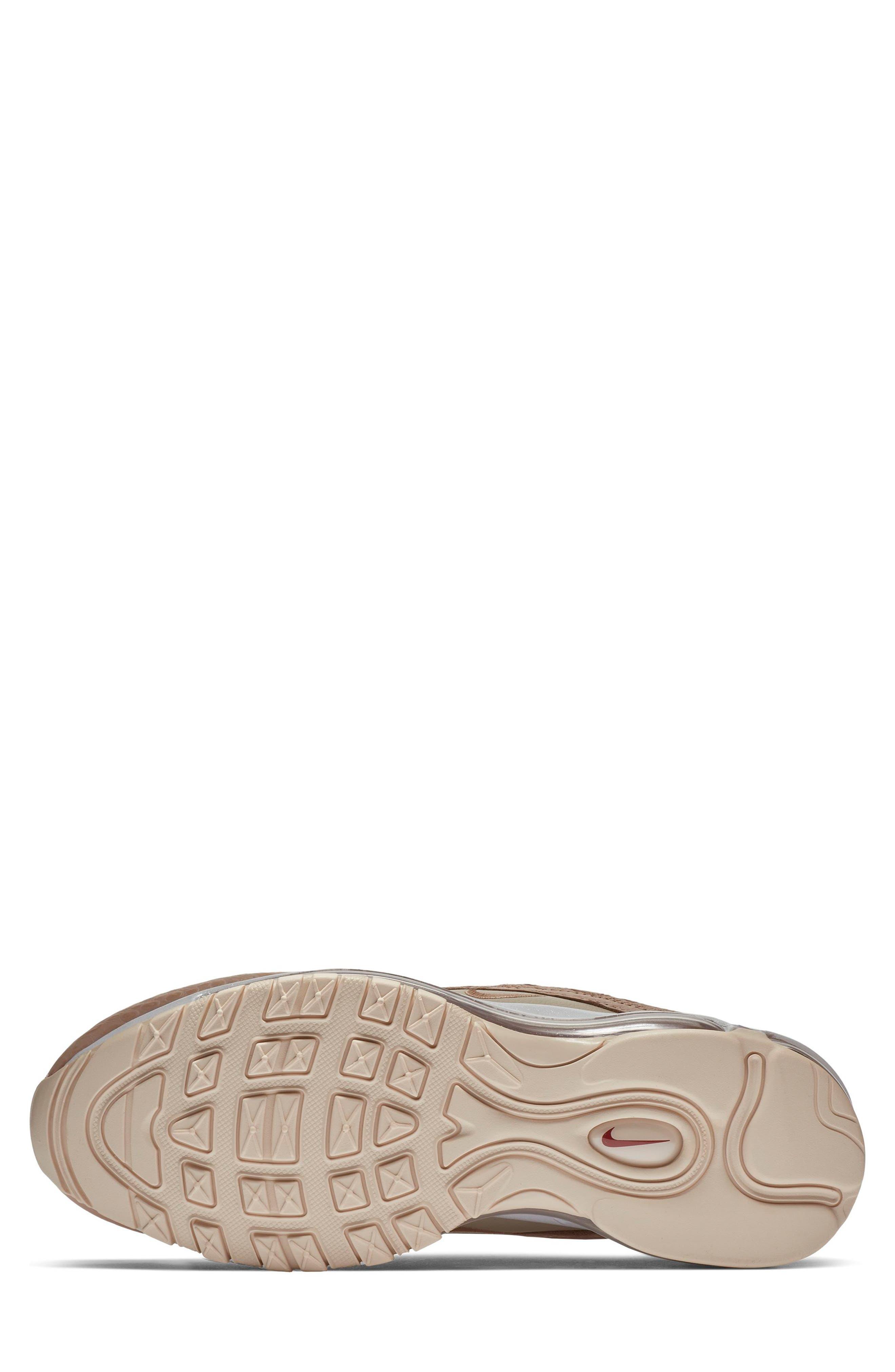 NIKE, Air Max 97 Lux Sneaker, Alternate thumbnail 5, color, BIO BEIGE/ CARBON/ PEACH