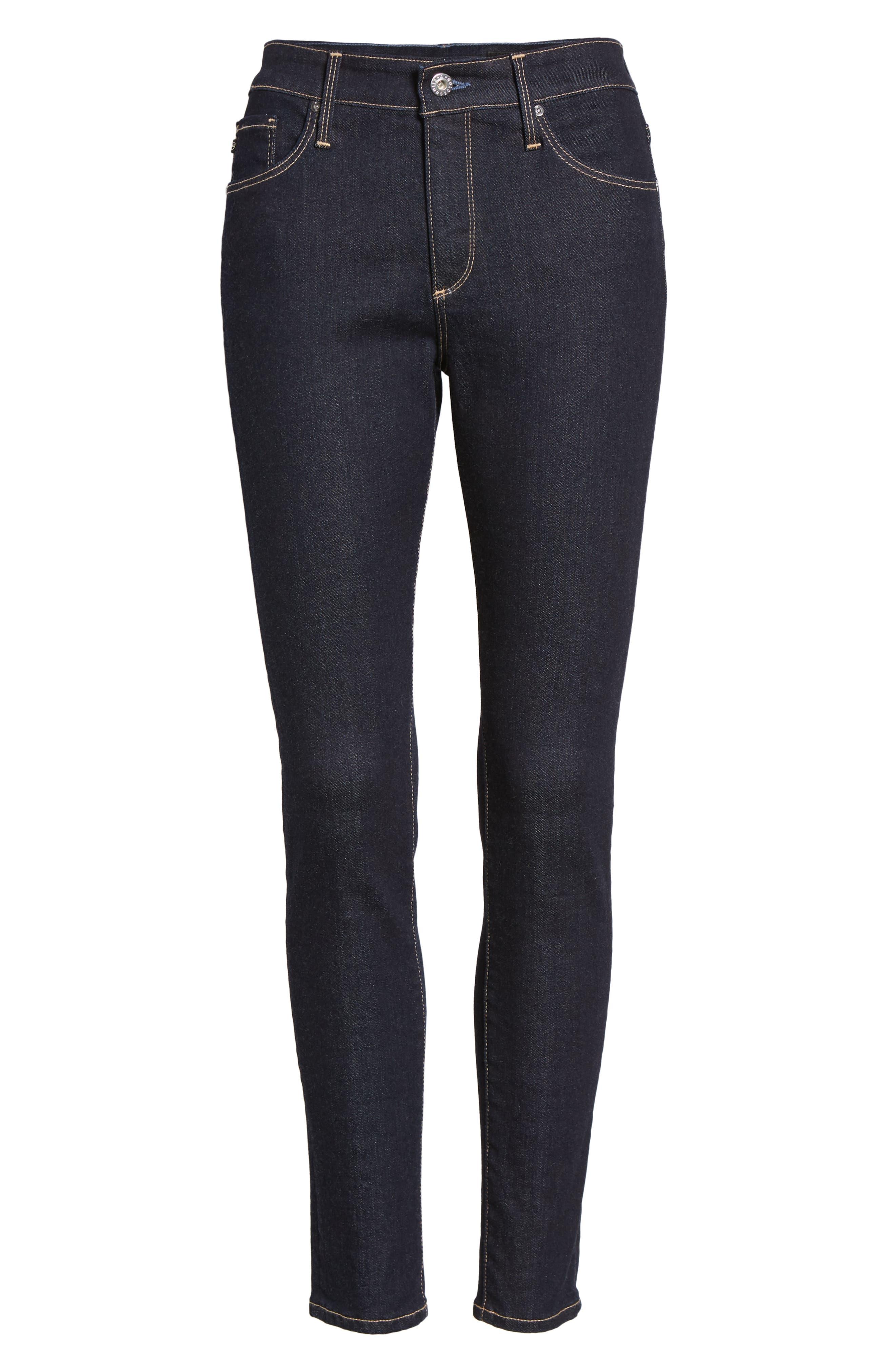 AG, The Farrah Ankle Skinny Jeans, Alternate thumbnail 7, color, INDIGO SPRING
