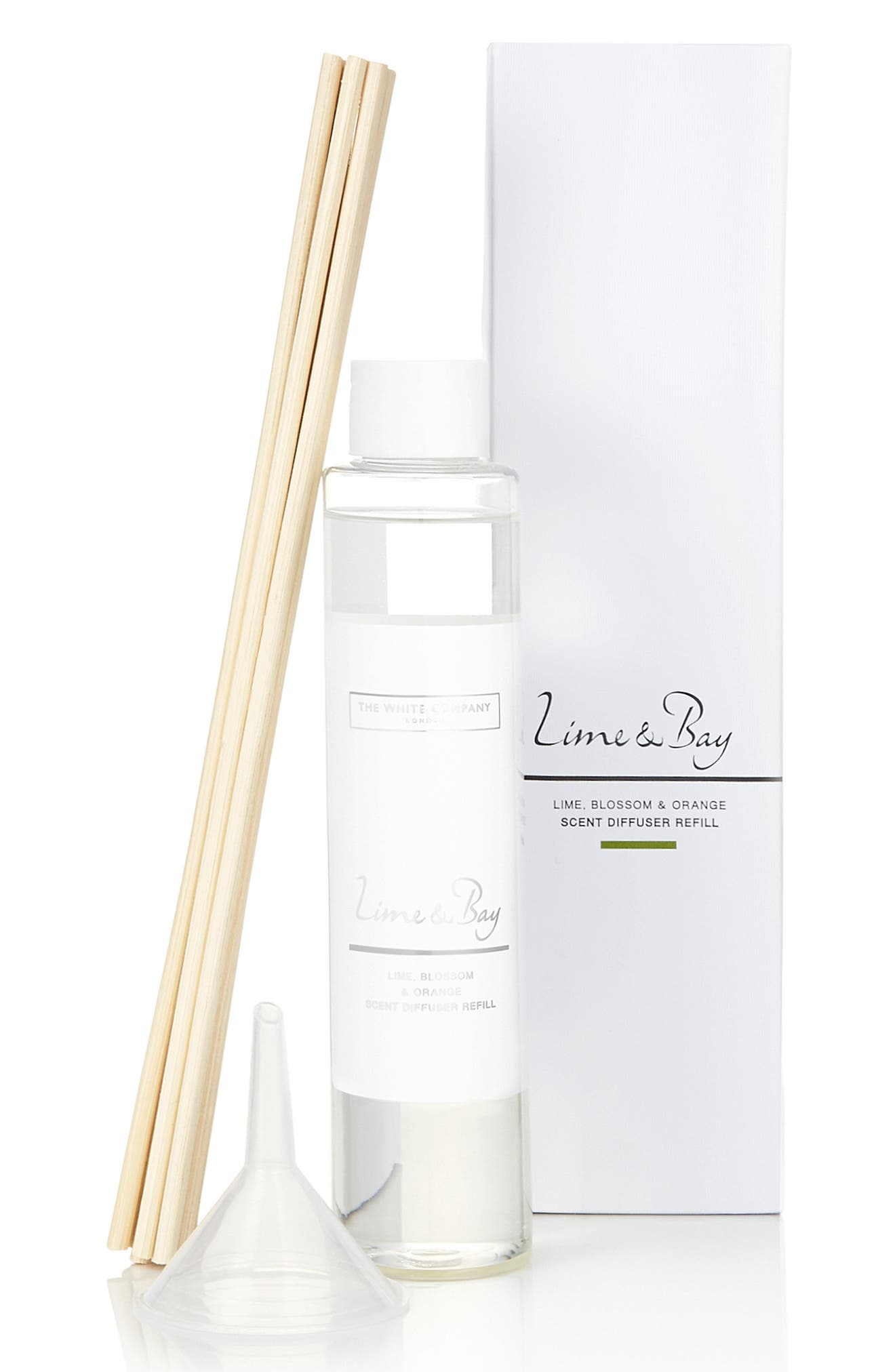 THE WHITE COMPANY, Home Fragrance Diffuser Refill, Main thumbnail 1, color, LIME/ BAY