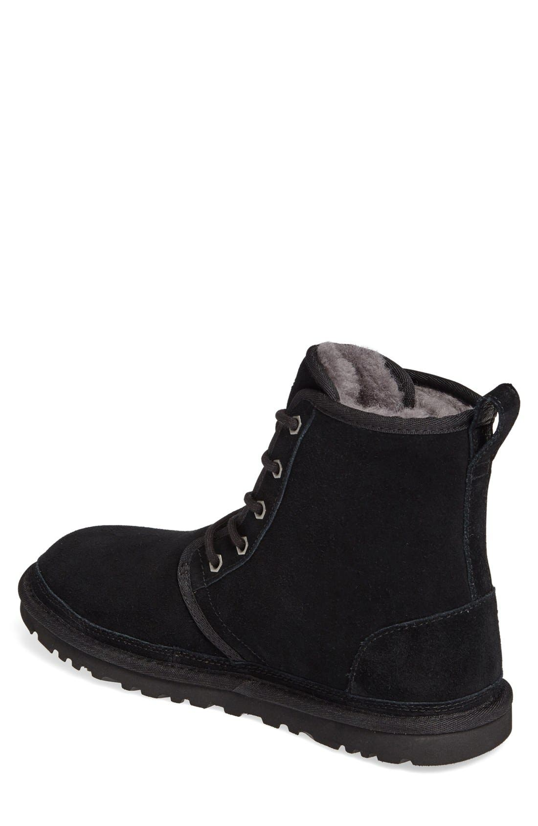 UGG<SUP>®</SUP>, Harkley Lace-Up Boot, Alternate thumbnail 2, color, BLACK