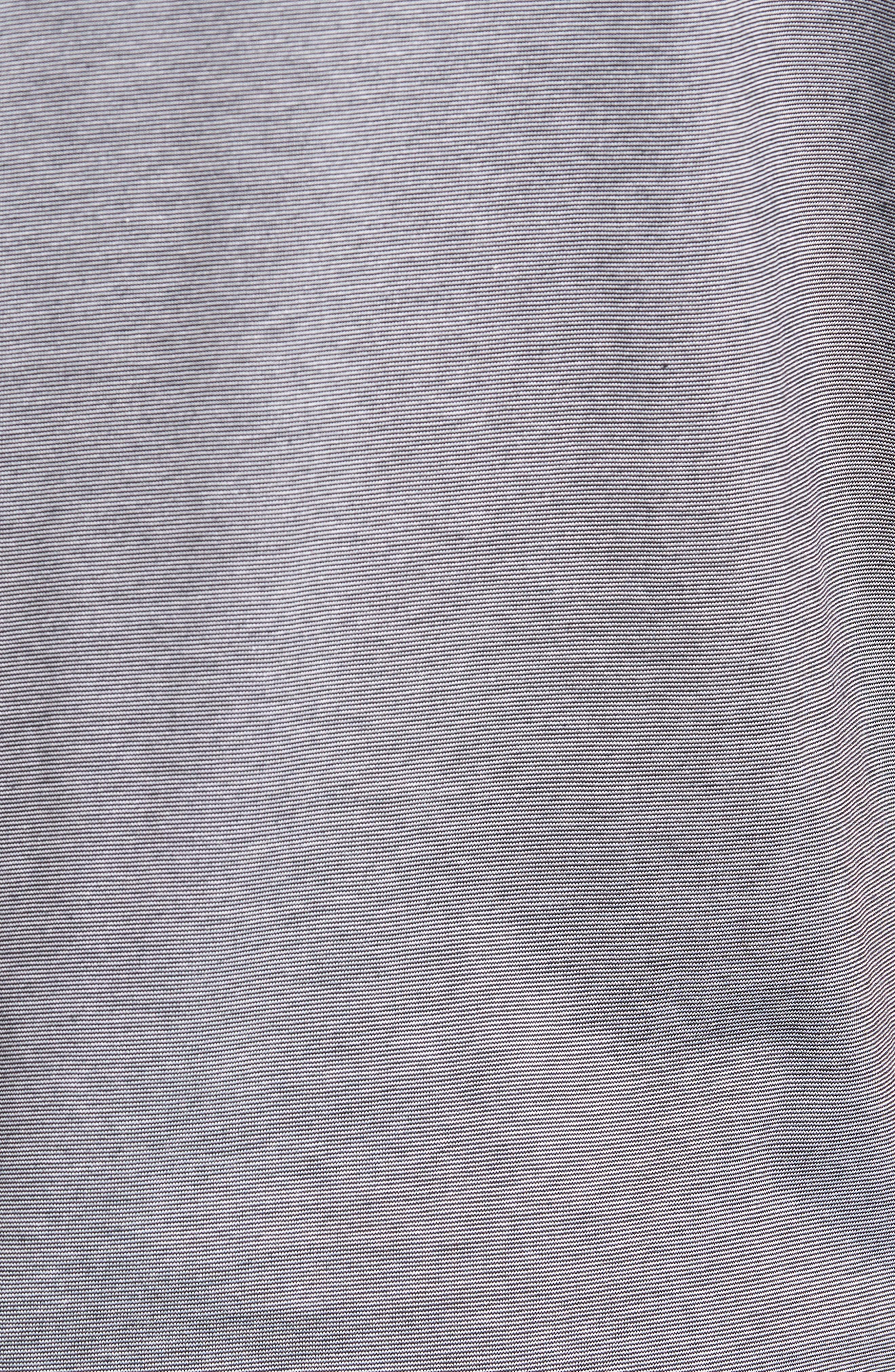 TRAVISMATHEW, The Zinna Performance Polo, Alternate thumbnail 5, color, GREY PINSTRIPE/ WHITE