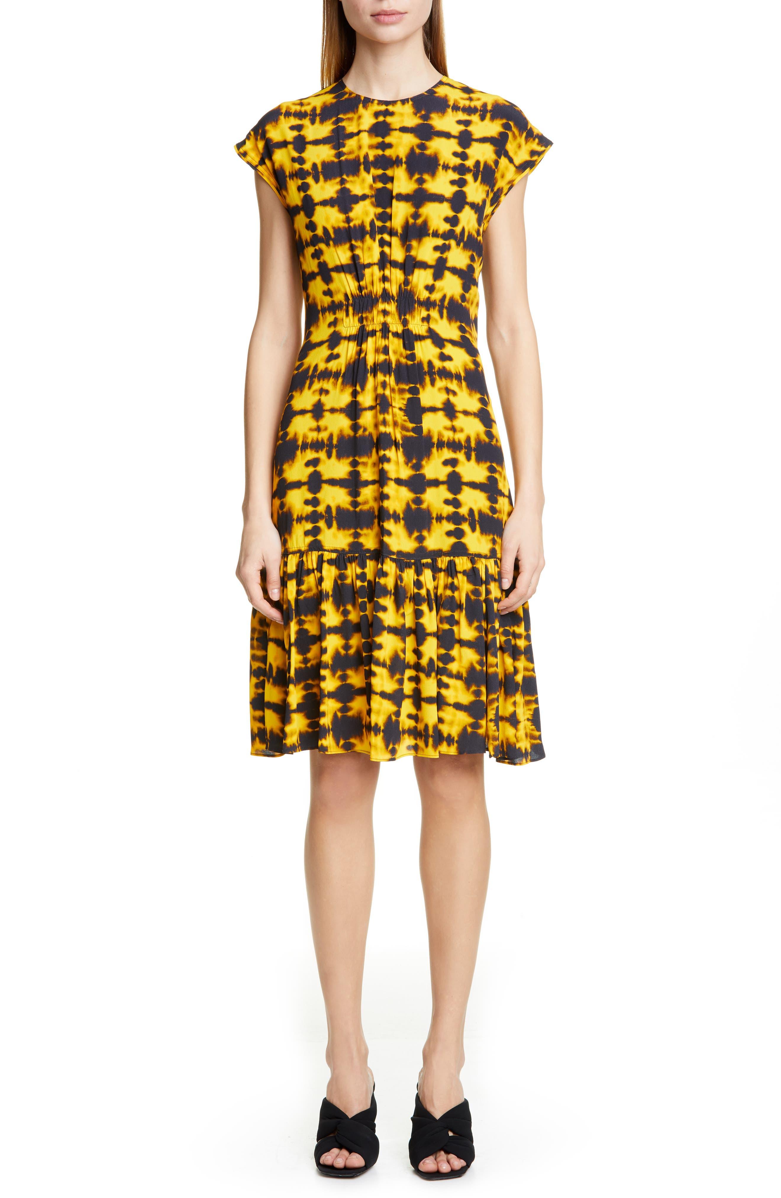 Proenza Schouler Tie Dye Dress, Yellow