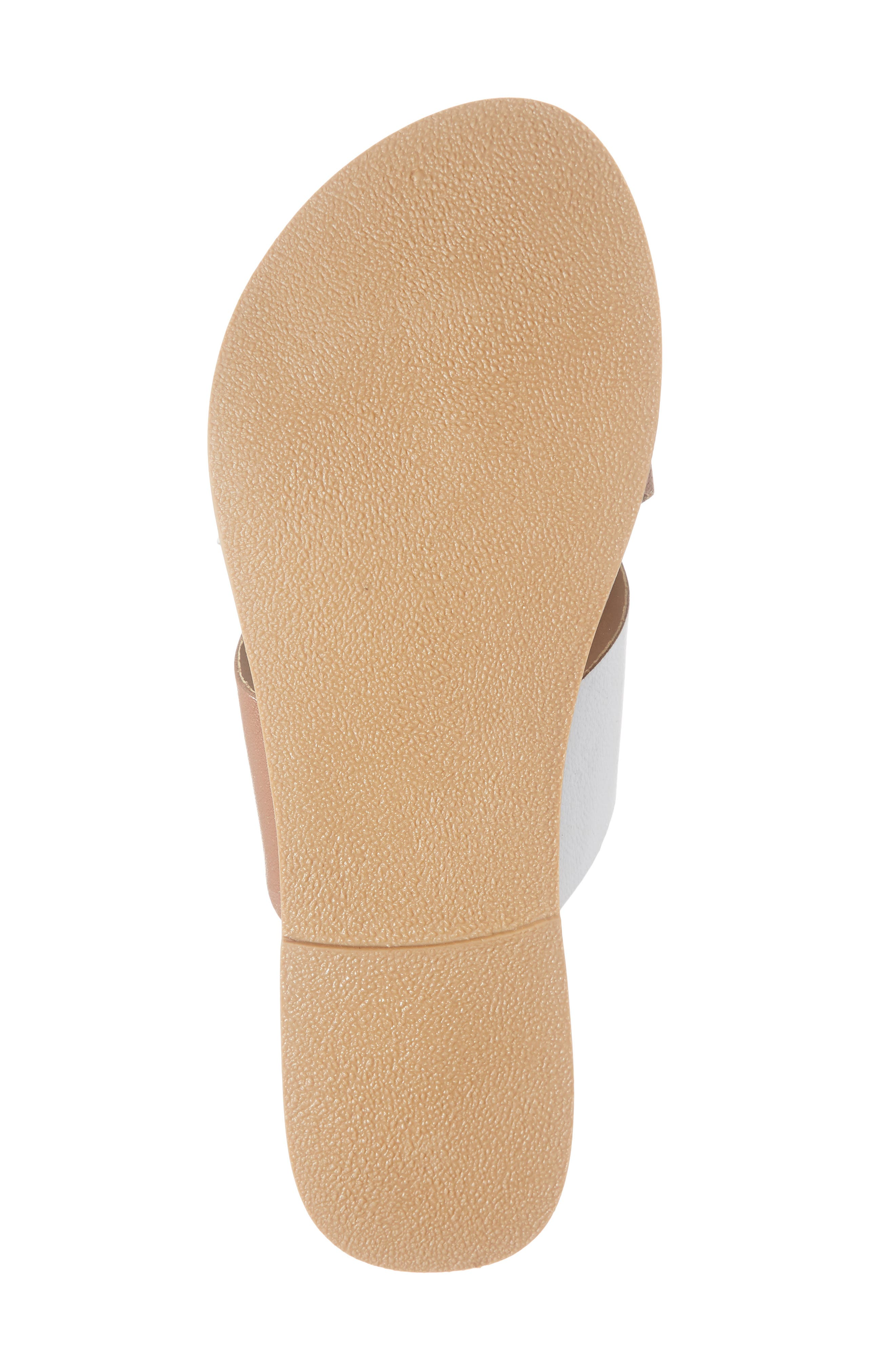 COCONUTS BY MATISSE, Wilma Slide Sandal, Alternate thumbnail 6, color, TAN/ WHITE LEATHER