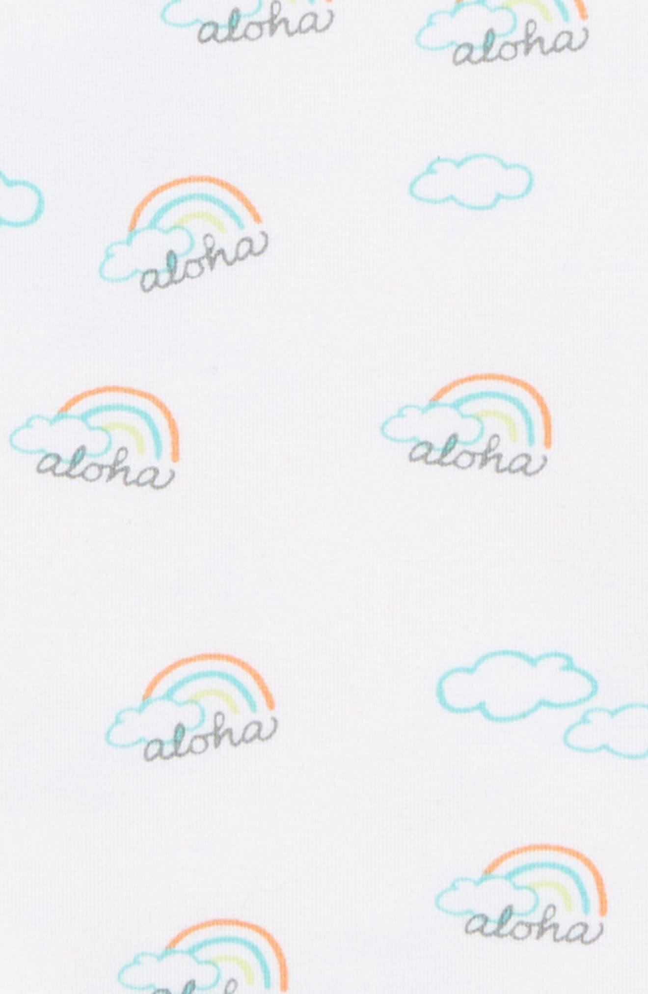 COCO MOON, Aloha Flutter Sleeve T-Shirt, Alternate thumbnail 2, color, MULTI