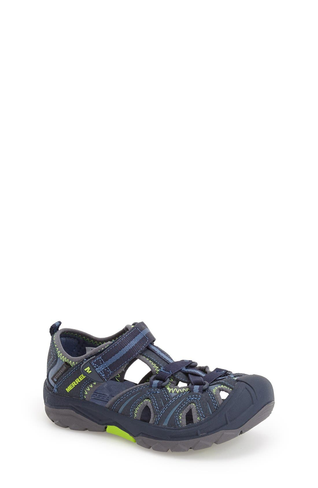 MERRELL, Hydro Water Sandal, Main thumbnail 1, color, NAVY/ GREEN