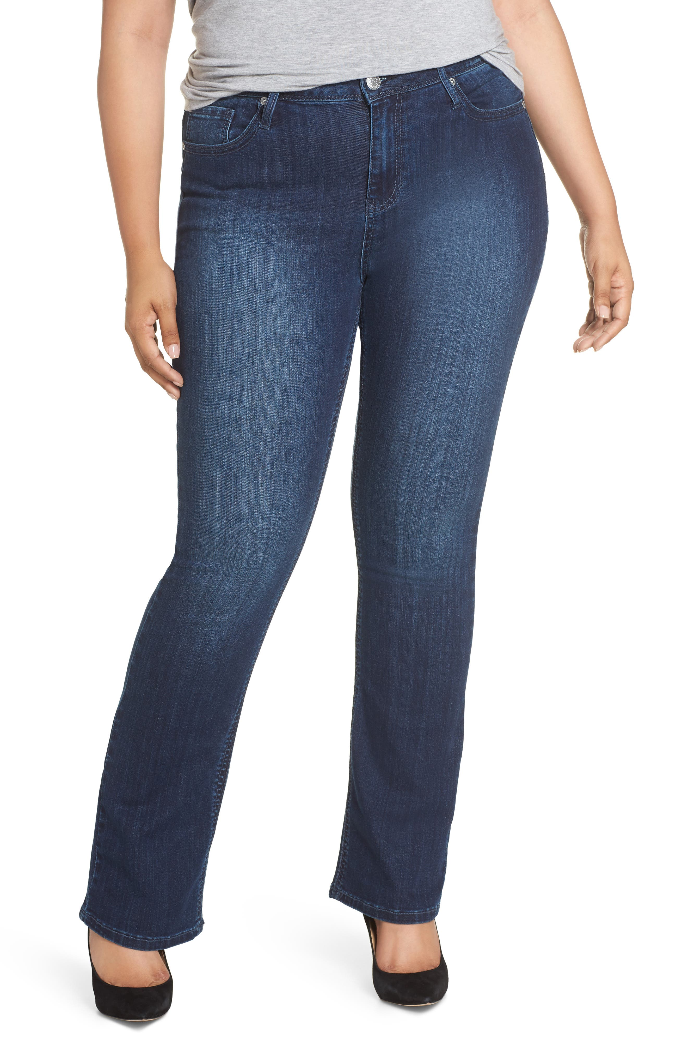 SEVEN7 Rocker Flap Pocket Slim Bootcut Jeans, Main, color, CHALLENGER