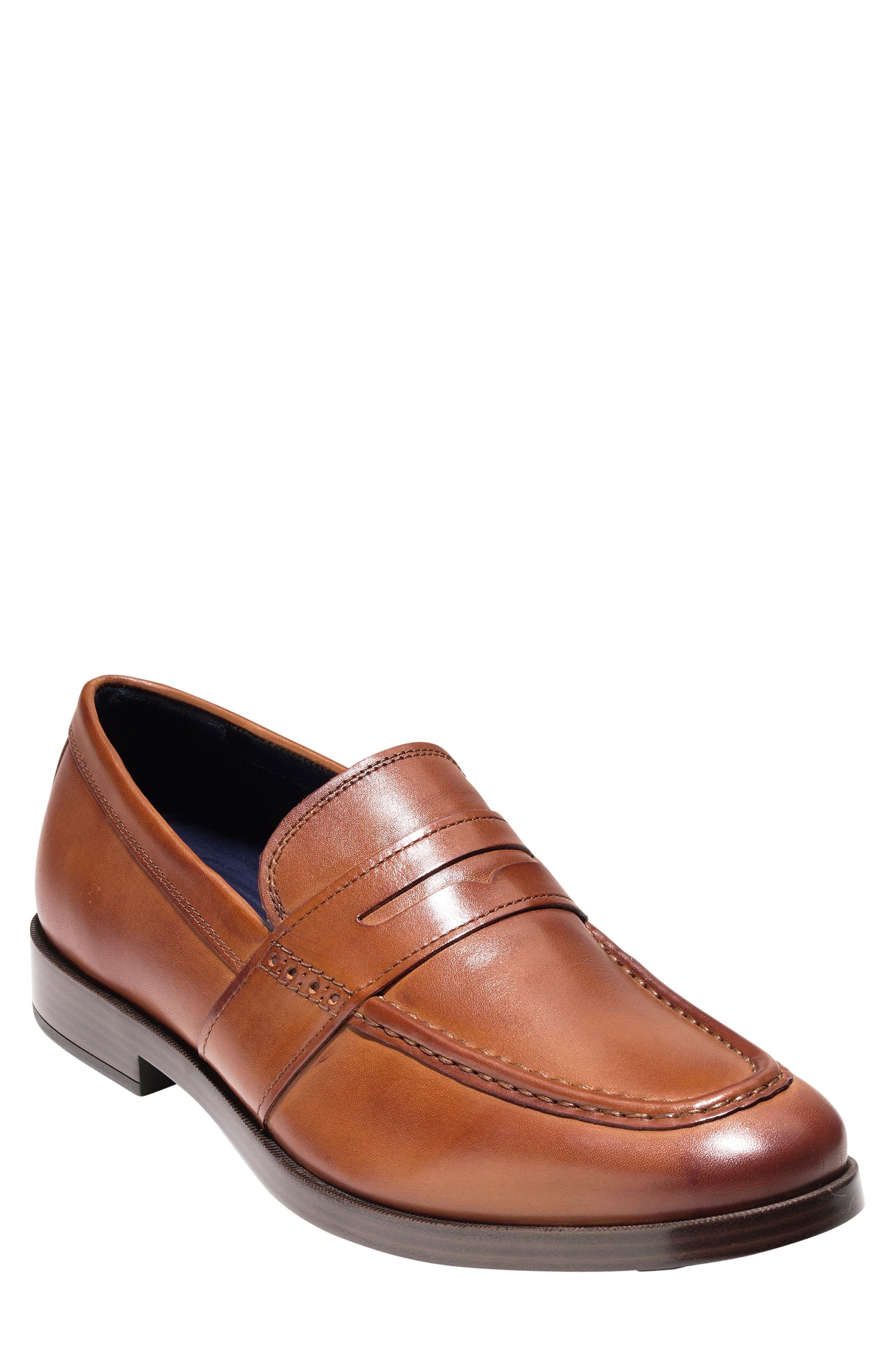 COLE HAAN, Jefferson Grand Penny Loafer, Main thumbnail 1, color, BRITISH TAN LEATHER