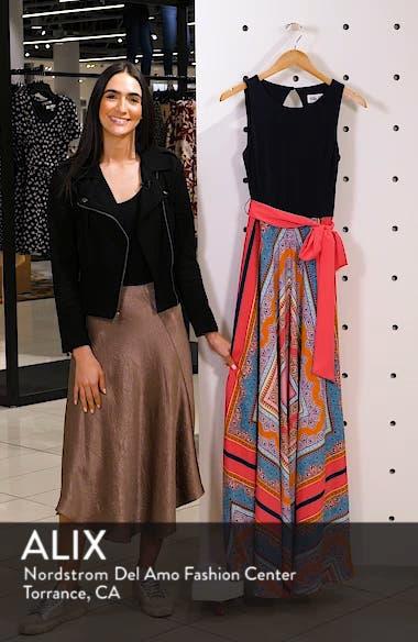 Scarf Print Jersey & Crêpe de Chine Maxi Dress, sales video thumbnail