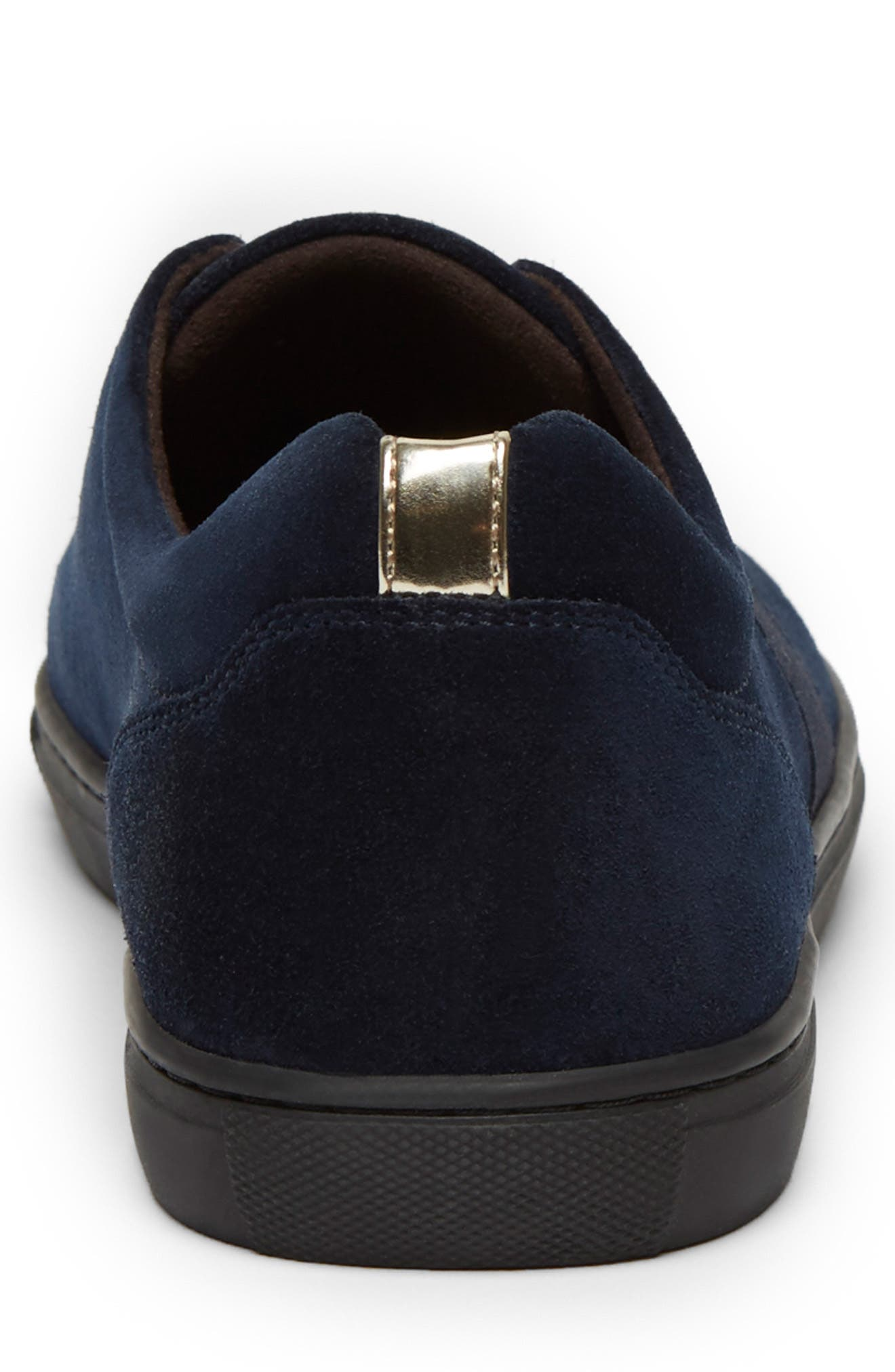 KENNETH COLE NEW YORK, Kam Slip-On, Alternate thumbnail 3, color, NAVY SUEDE